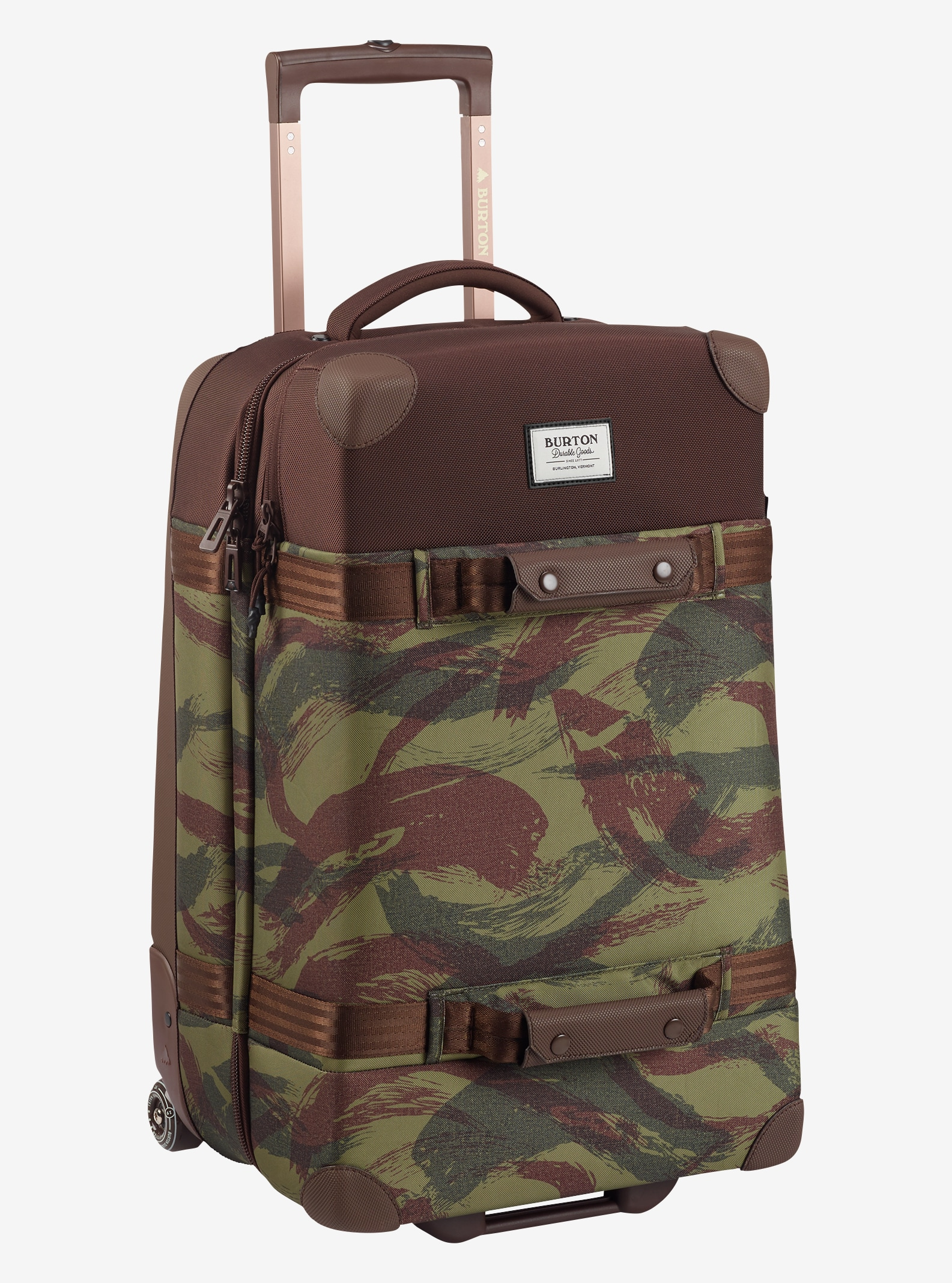 Burton Wheelie Cargo Travel Bag shown in Brushstroke Camo Print