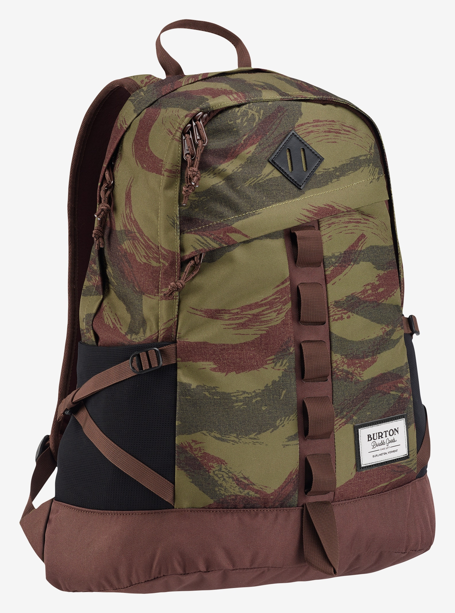 Burton Shackford Backpack shown in Brushstroke Camo Print