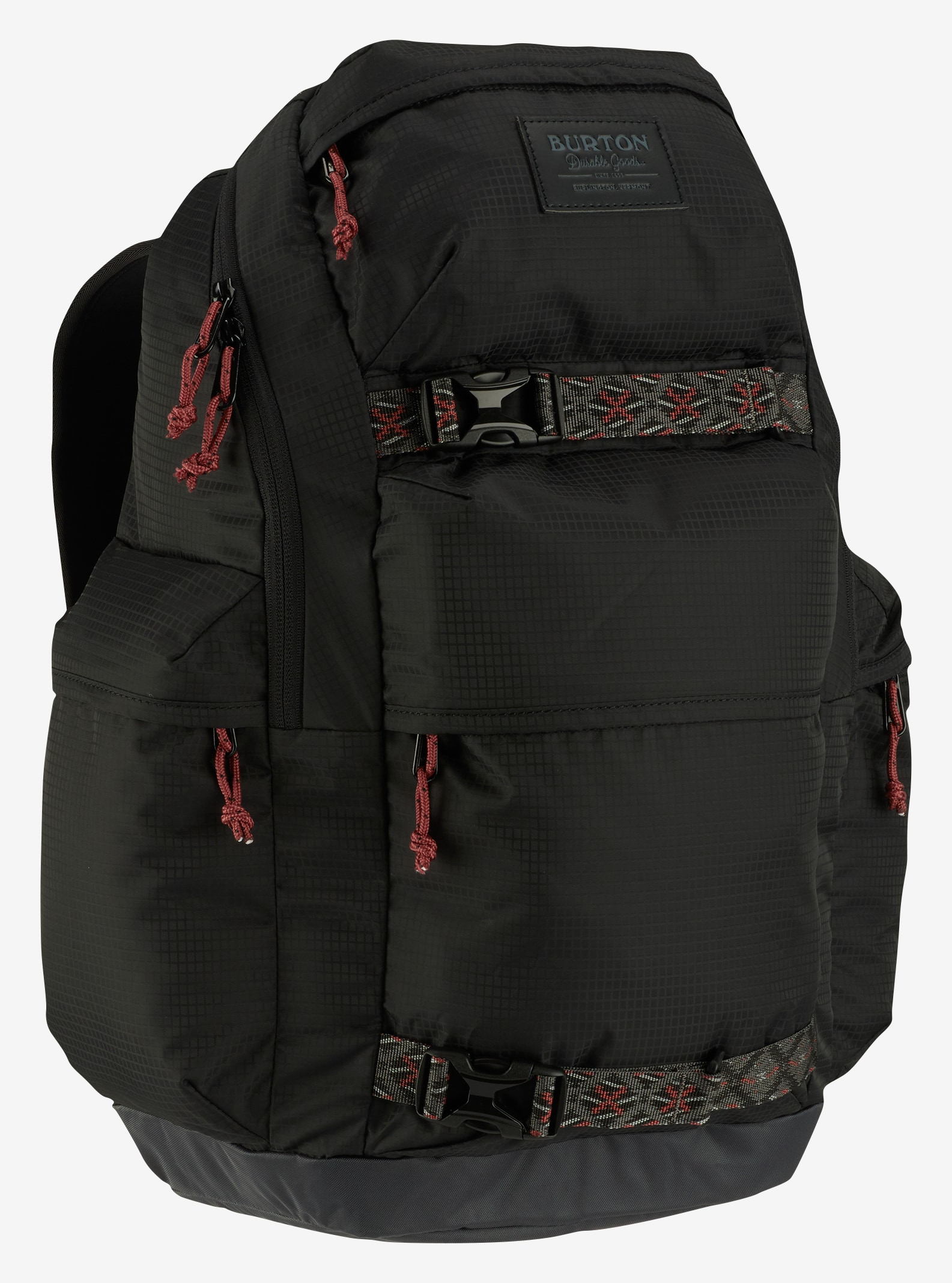 Burton Kilo Backpack shown in True Black Mini Rip