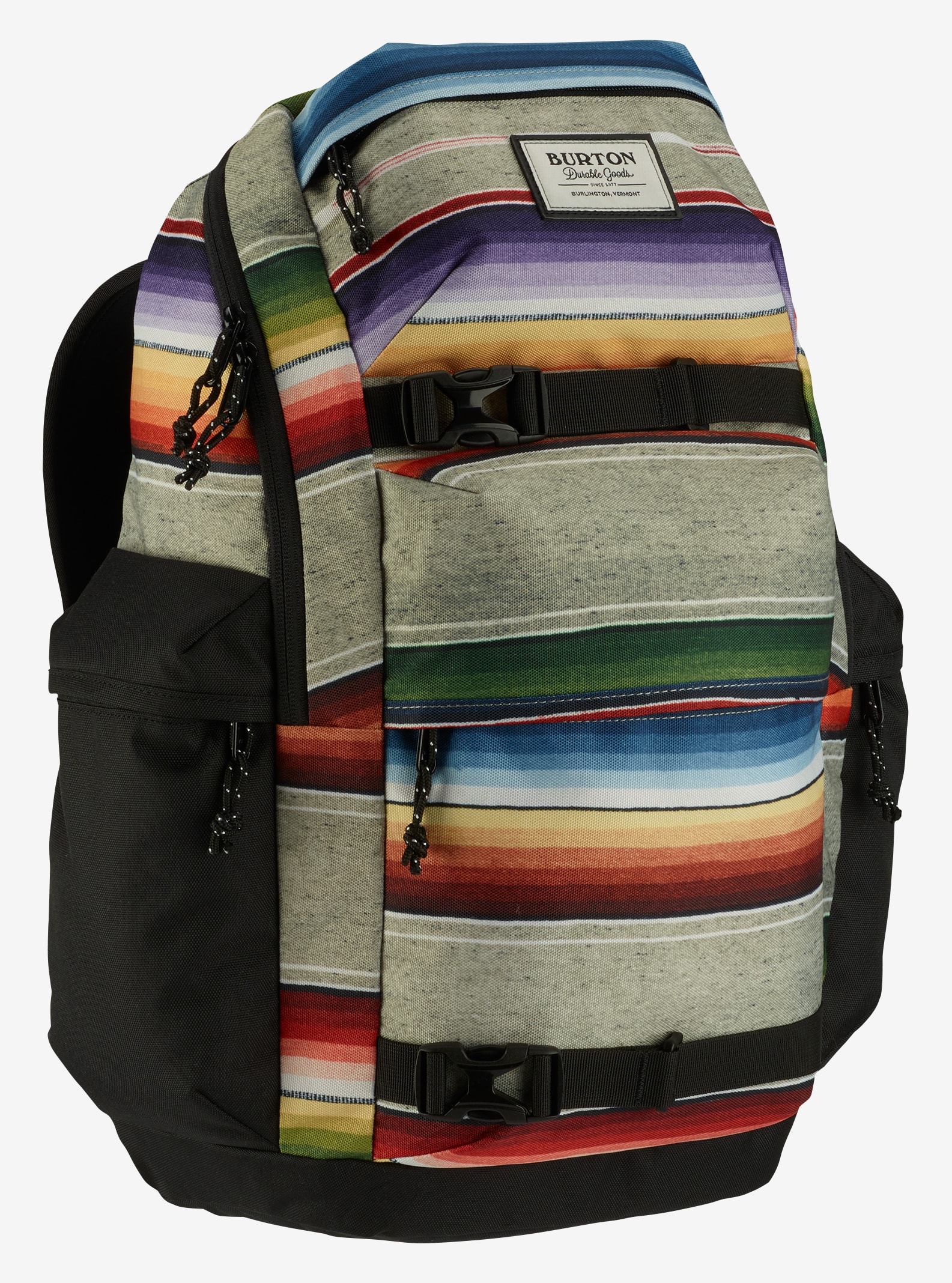 Burton Kilo Backpack shown in Bright Sinola Stripe Print