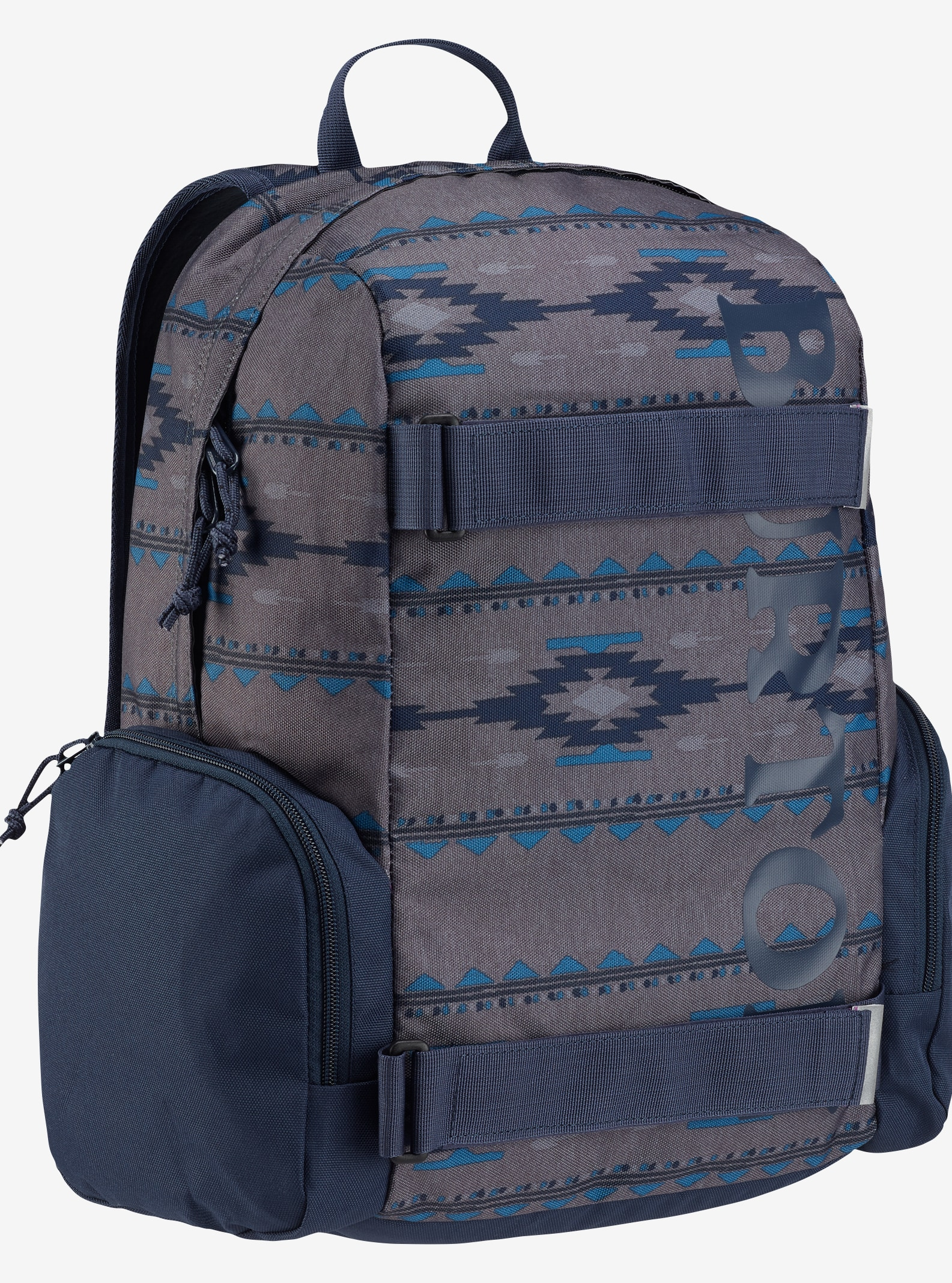 Burton Kids' Emphasis Backpack shown in Faded Saddle Stripe Print