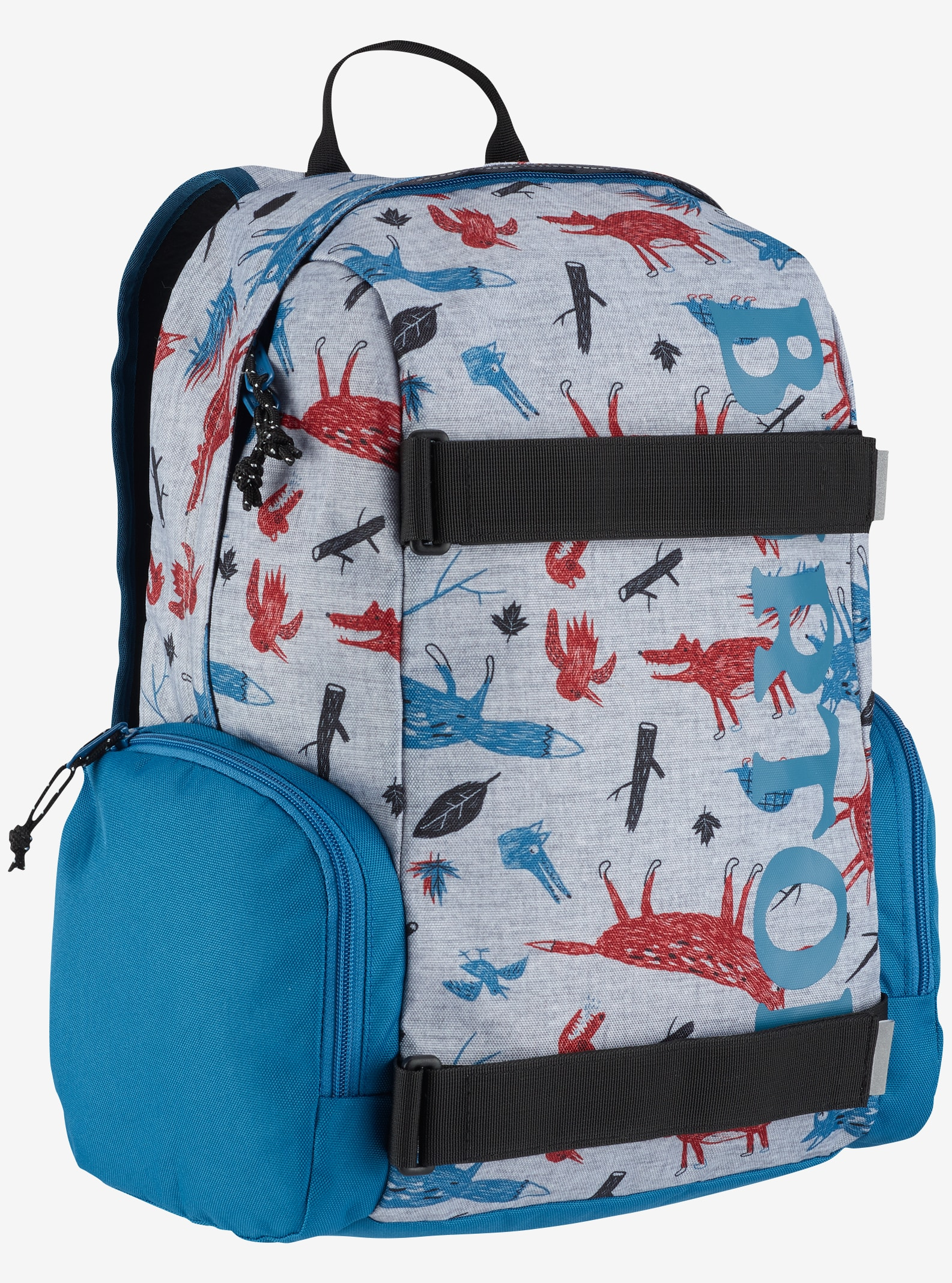 Burton Kids' Emphasis Backpack shown in Big Bad Wolf Print