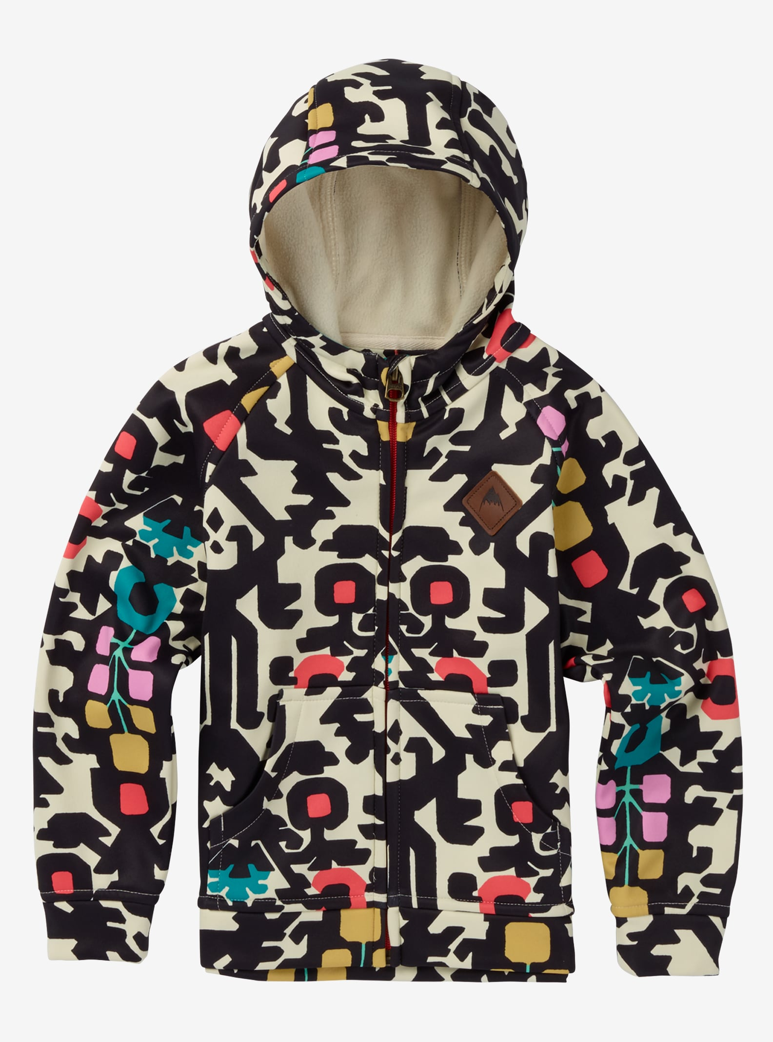 Boys' Burton Mini Bonded Full-Zip Hoodie shown in Young Folks