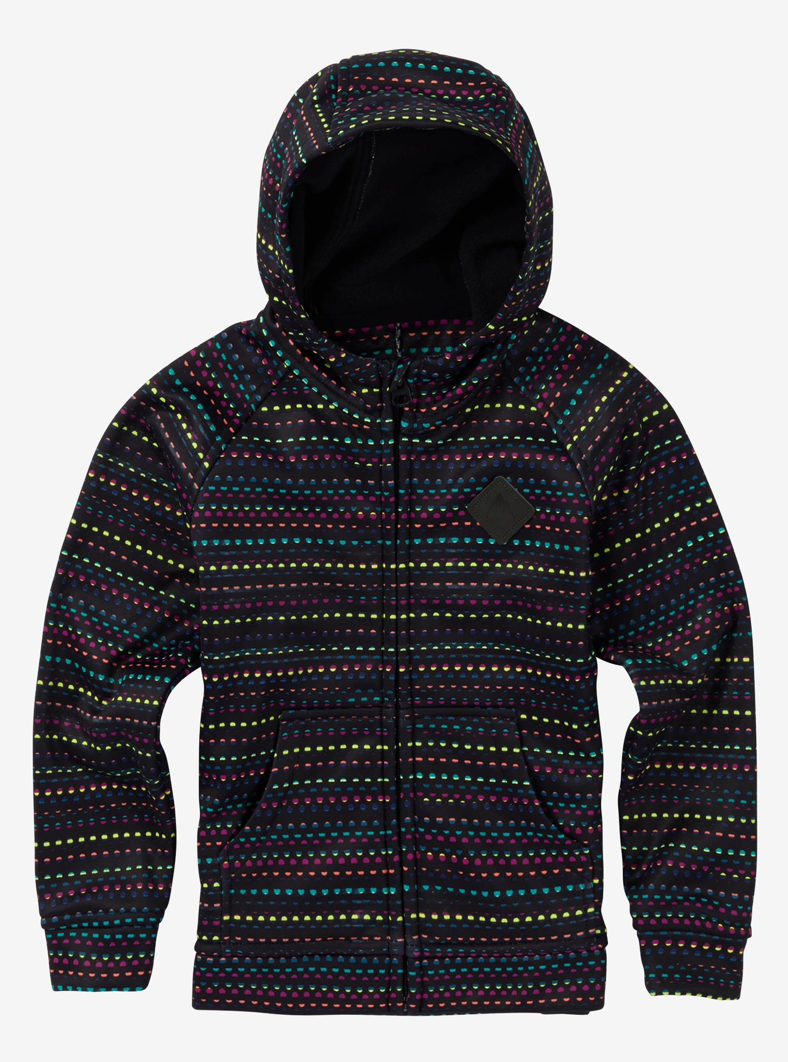 Kids' Burton Mini Bonded Full-Zip Hoodie shown in Candy Dots