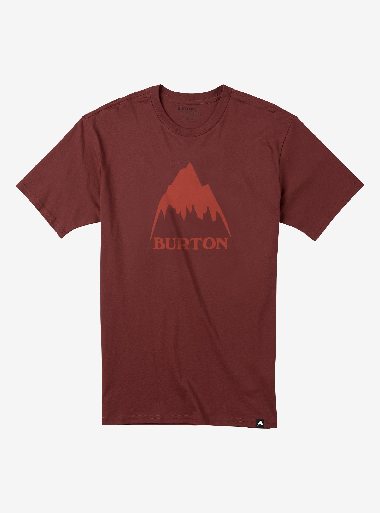 Men's Burton Classic Mountain High Short Sleeve T Shirt shown in Fired Brick