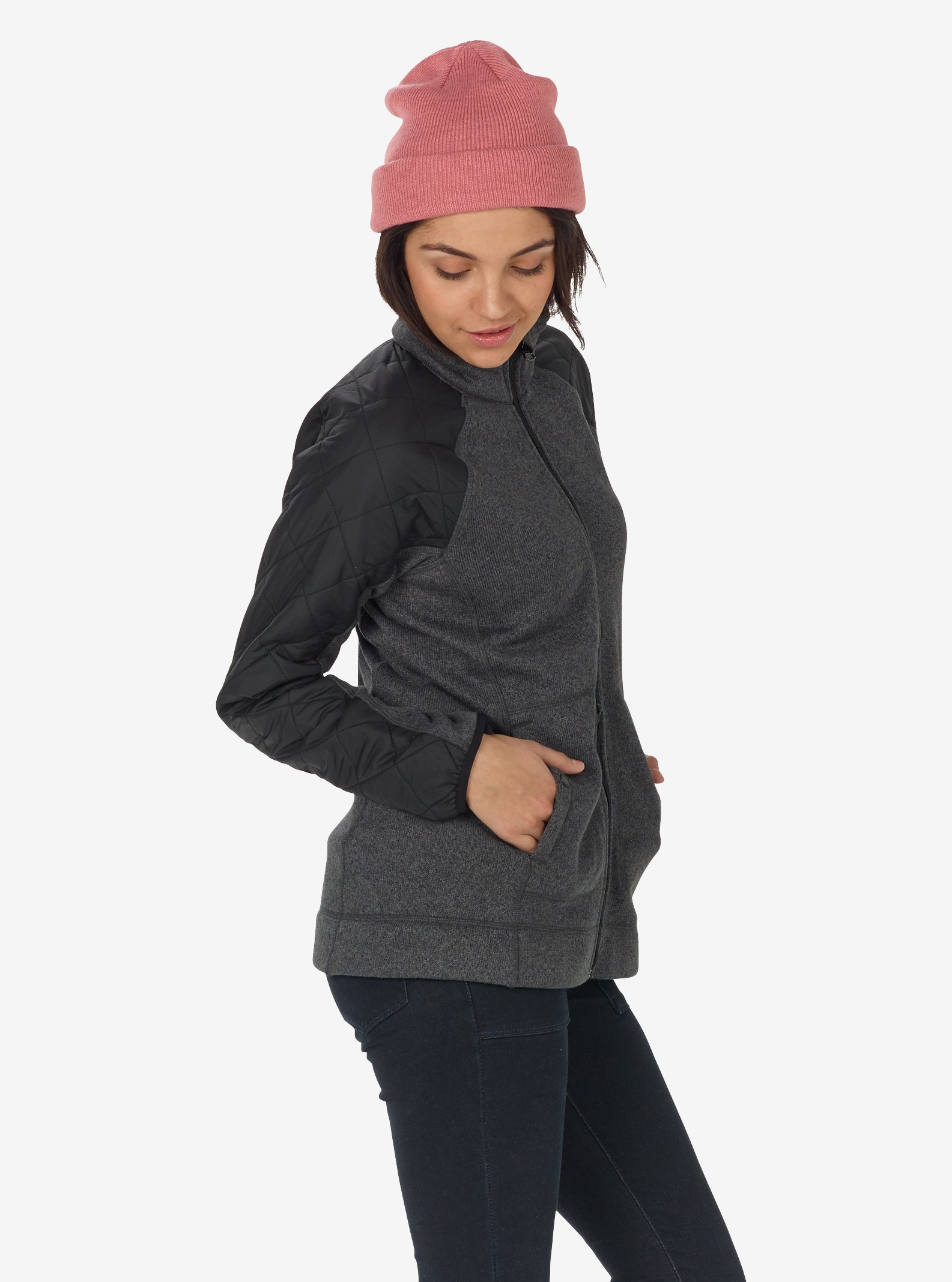 Women's Burton Pierce Fleece shown in True Black Heather