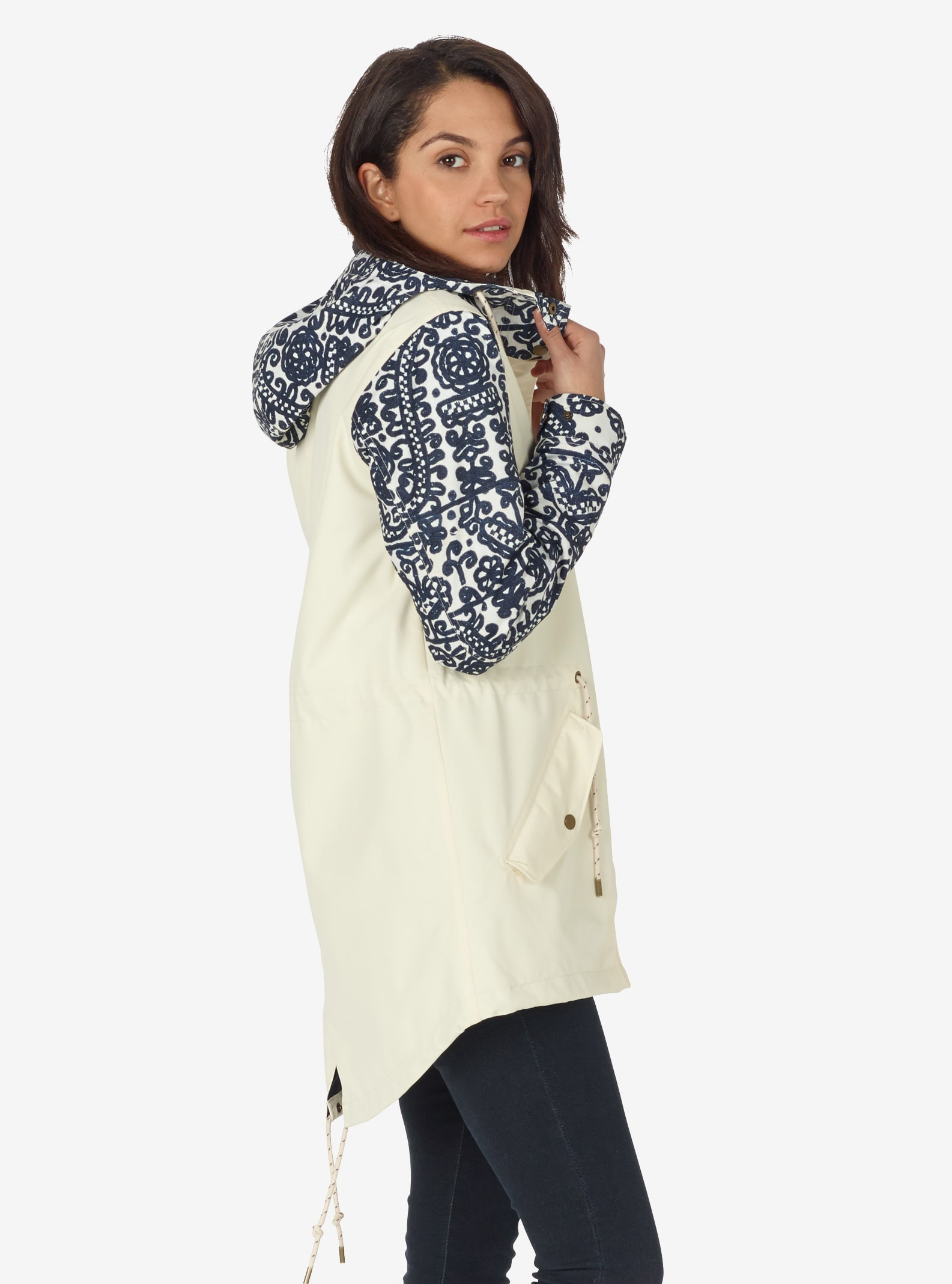 Women's Burton Sadie Jacket shown in Canvas / Mood Indigo Deftone