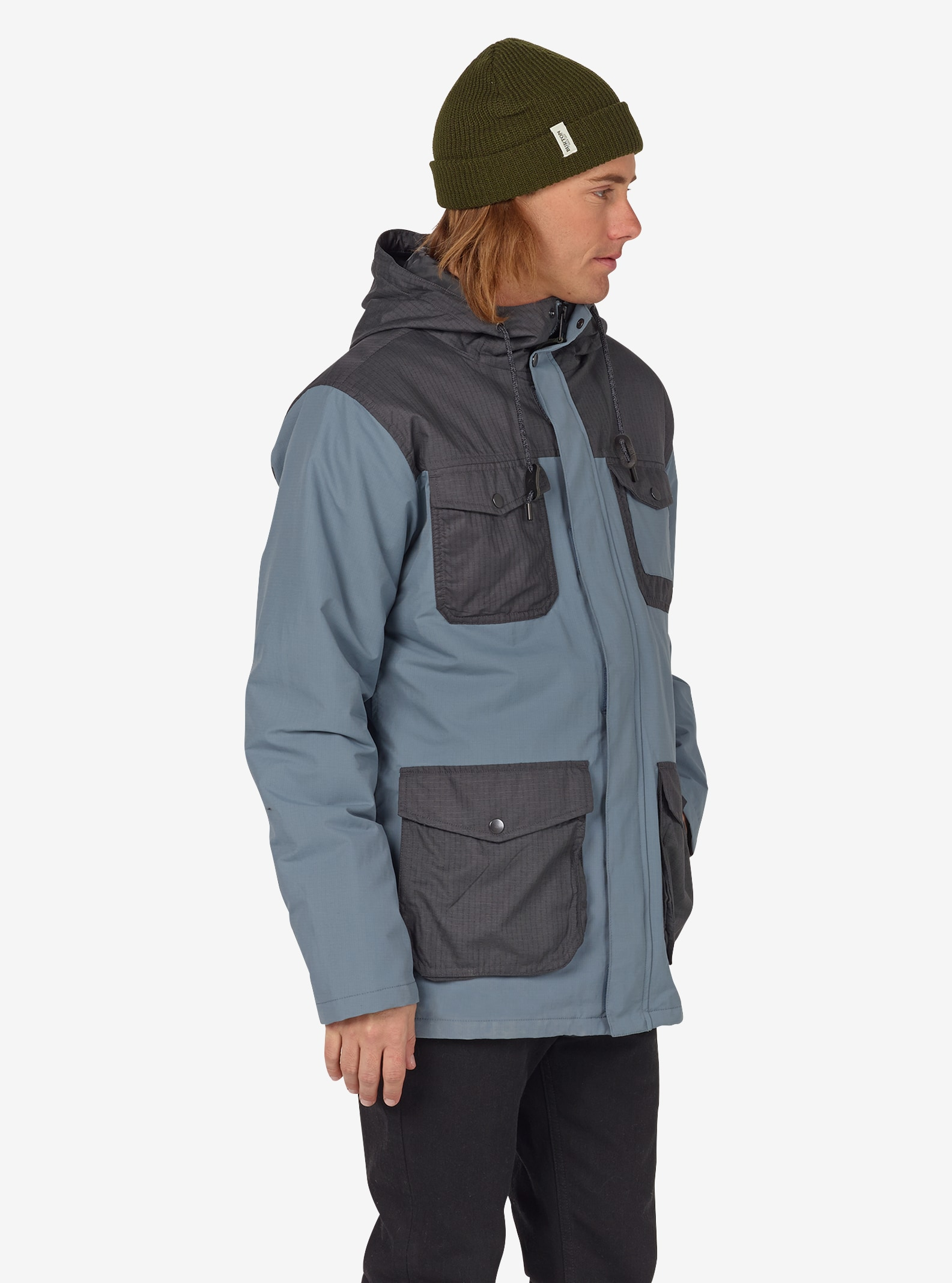 Men's Burton Match Jacket shown in LA Sky / Faded