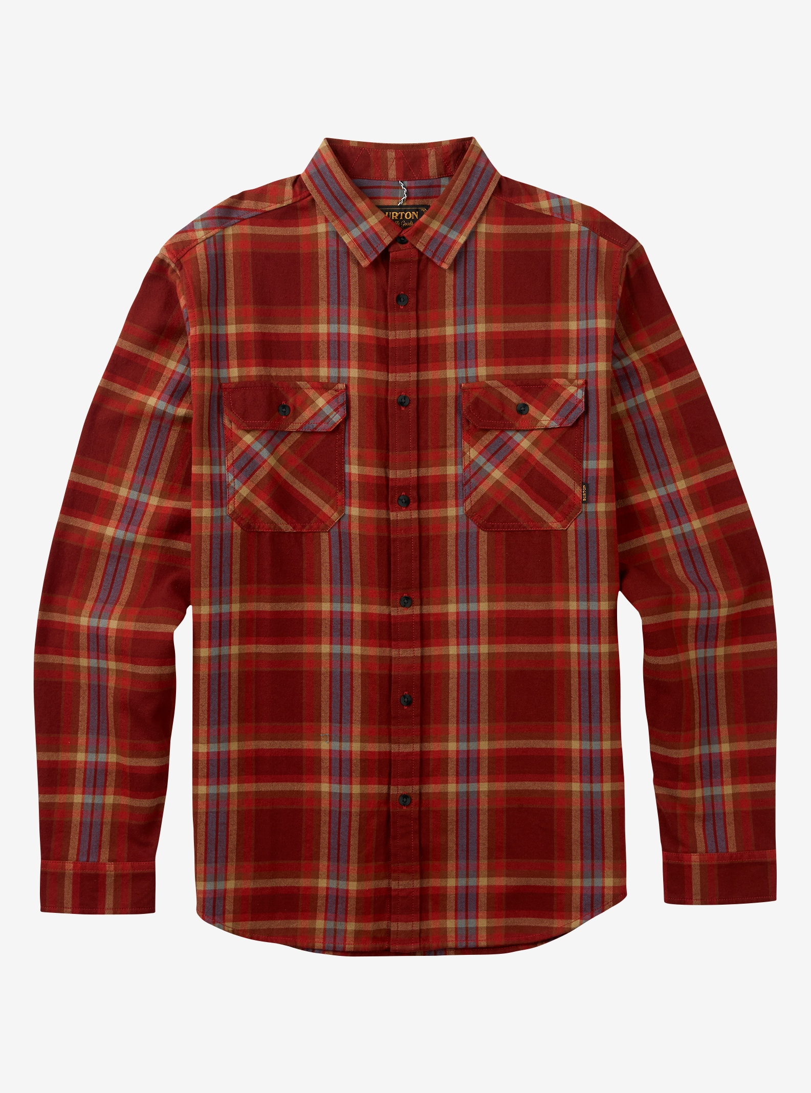 Men's Burton Brighton Flannel shown in Fired Brick Balsam