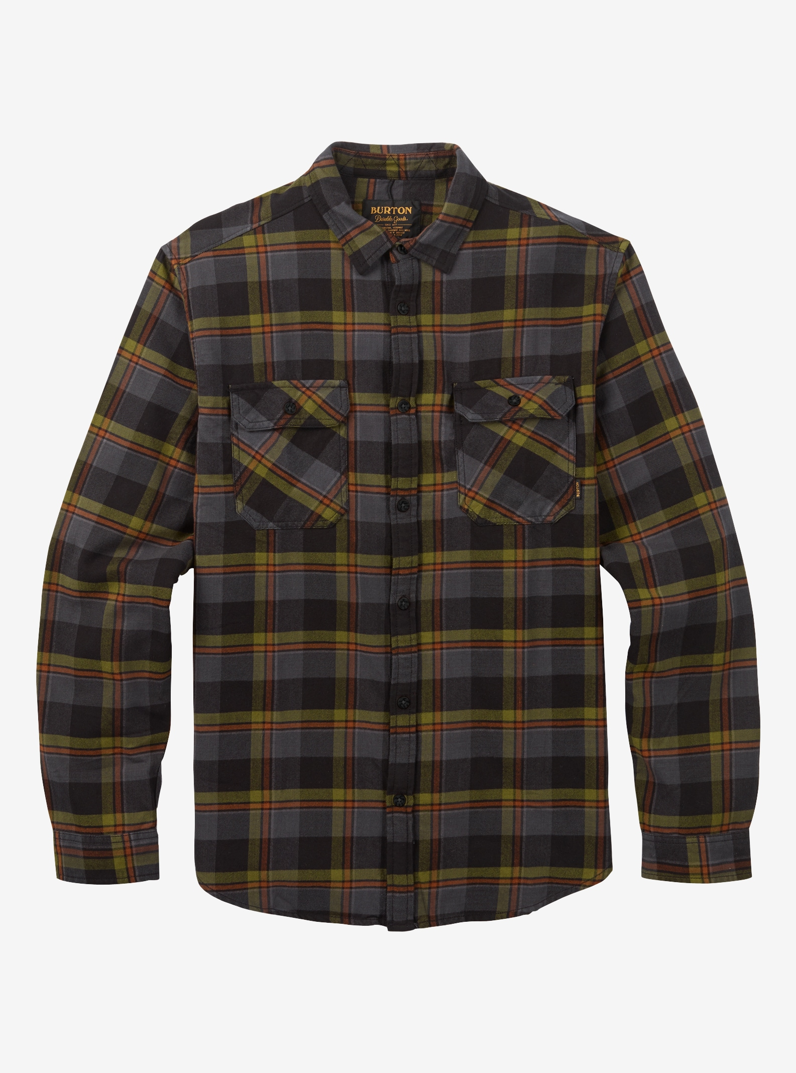 Men's Burton Brighton Flannel shown in Olive Branch Hawthorn