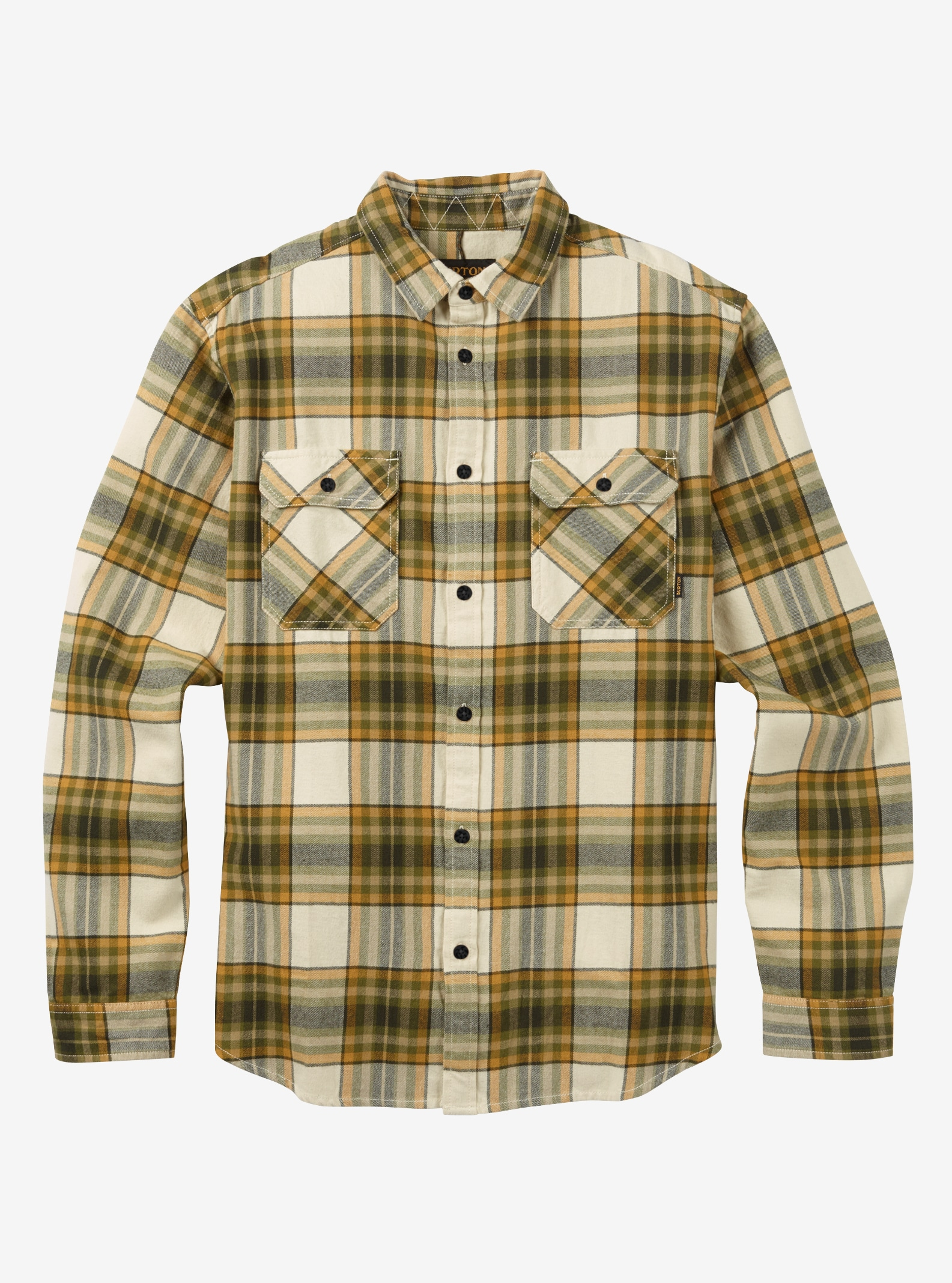 Men's Burton Brighton Flannel shown in Canvas Balsam Plaid