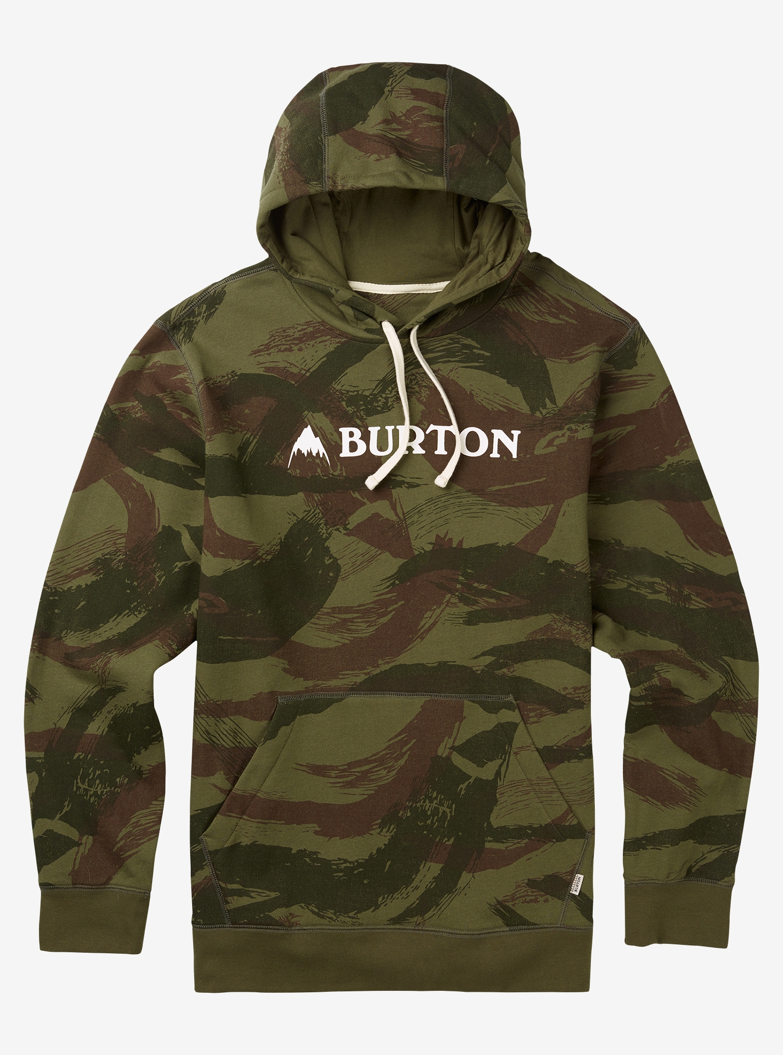 Men's Burton Mountain Horizontal Pullover Hoodie shown in Brush Camo