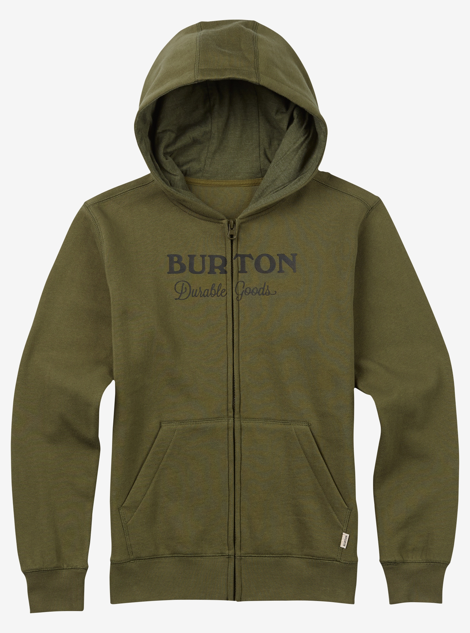 Boys' Burton Durable Goods Full-Zip Hoodie shown in Dusty Olive