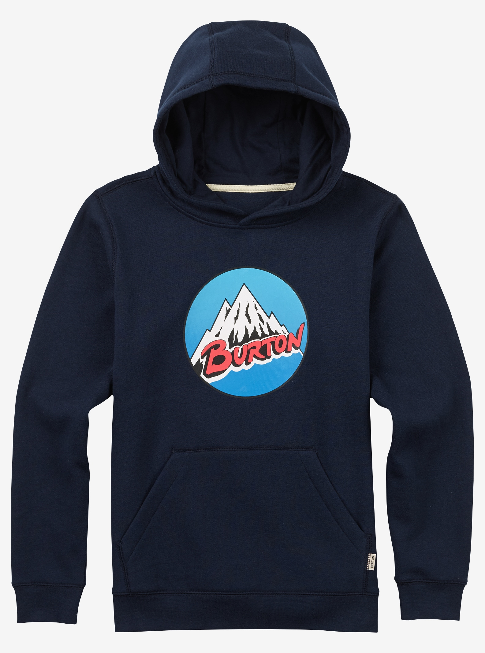 Boys' Burton Retro Mountain Pullover Hoodie shown in Indigo