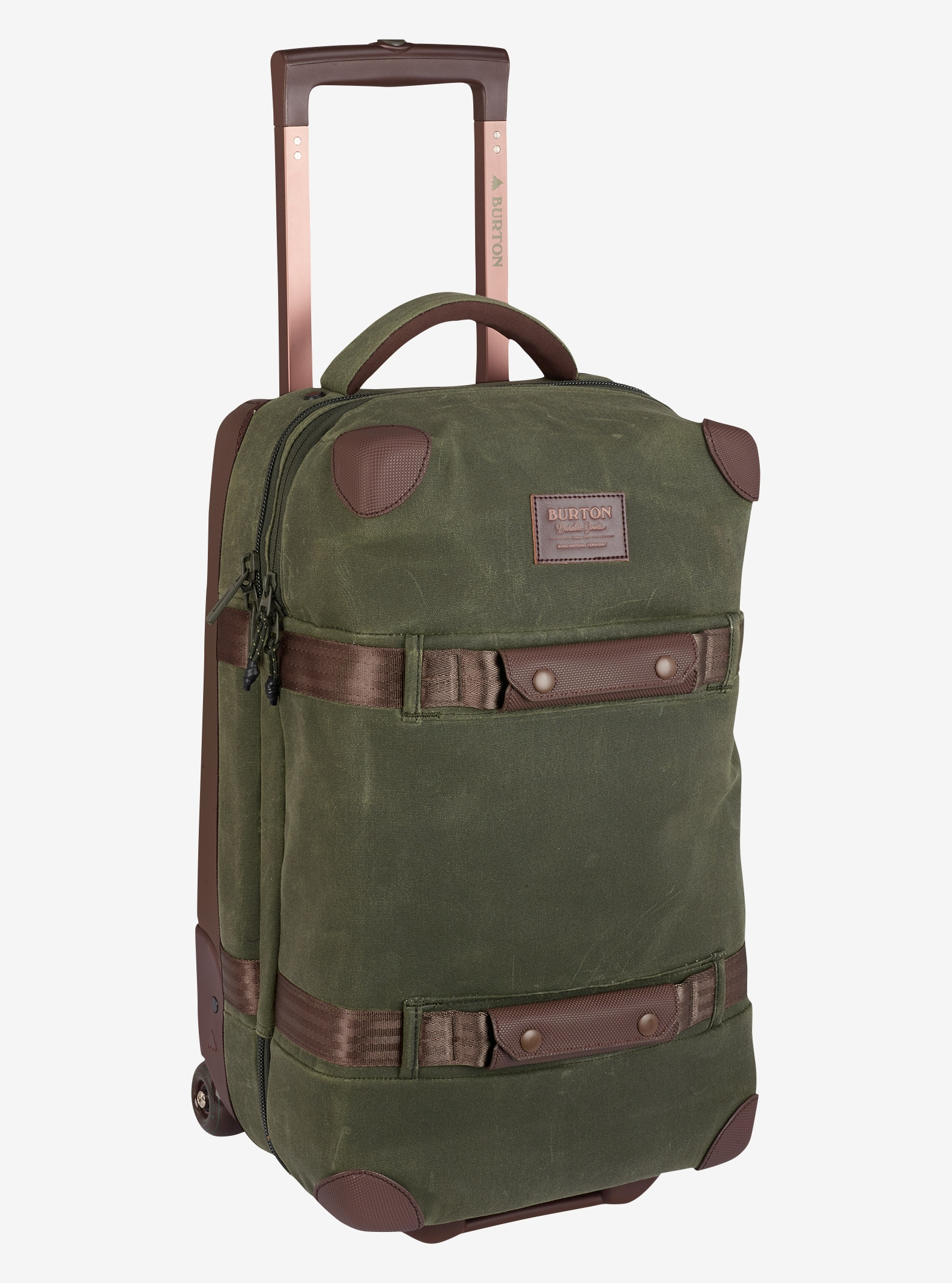 Burton - Valise à roulettes Wheelie Flight Deck affichage en Forest Night Waxed Canvas