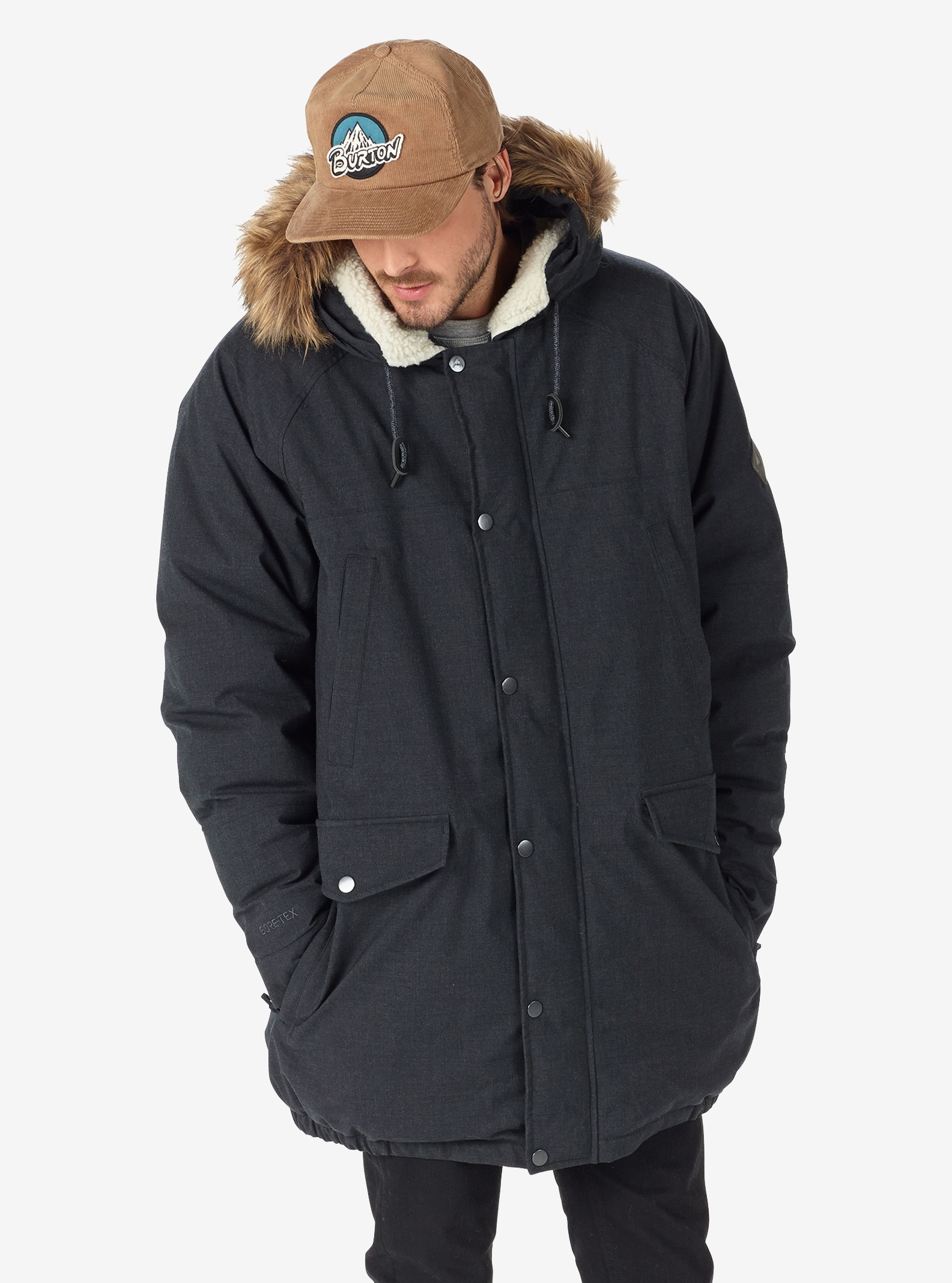 Men's Burton GORE-TEX® Garrison Jacket shown in Shade Heather