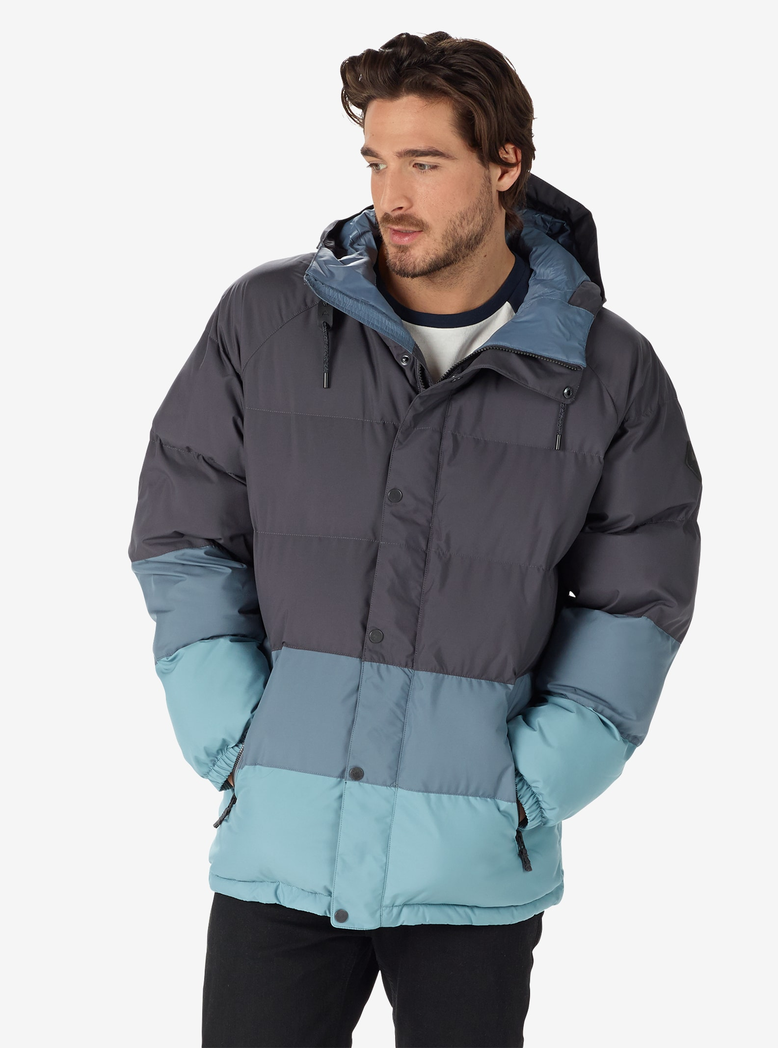 Men's Burton Traverse Jacket shown in Faded / LA Sky / Winter Sky
