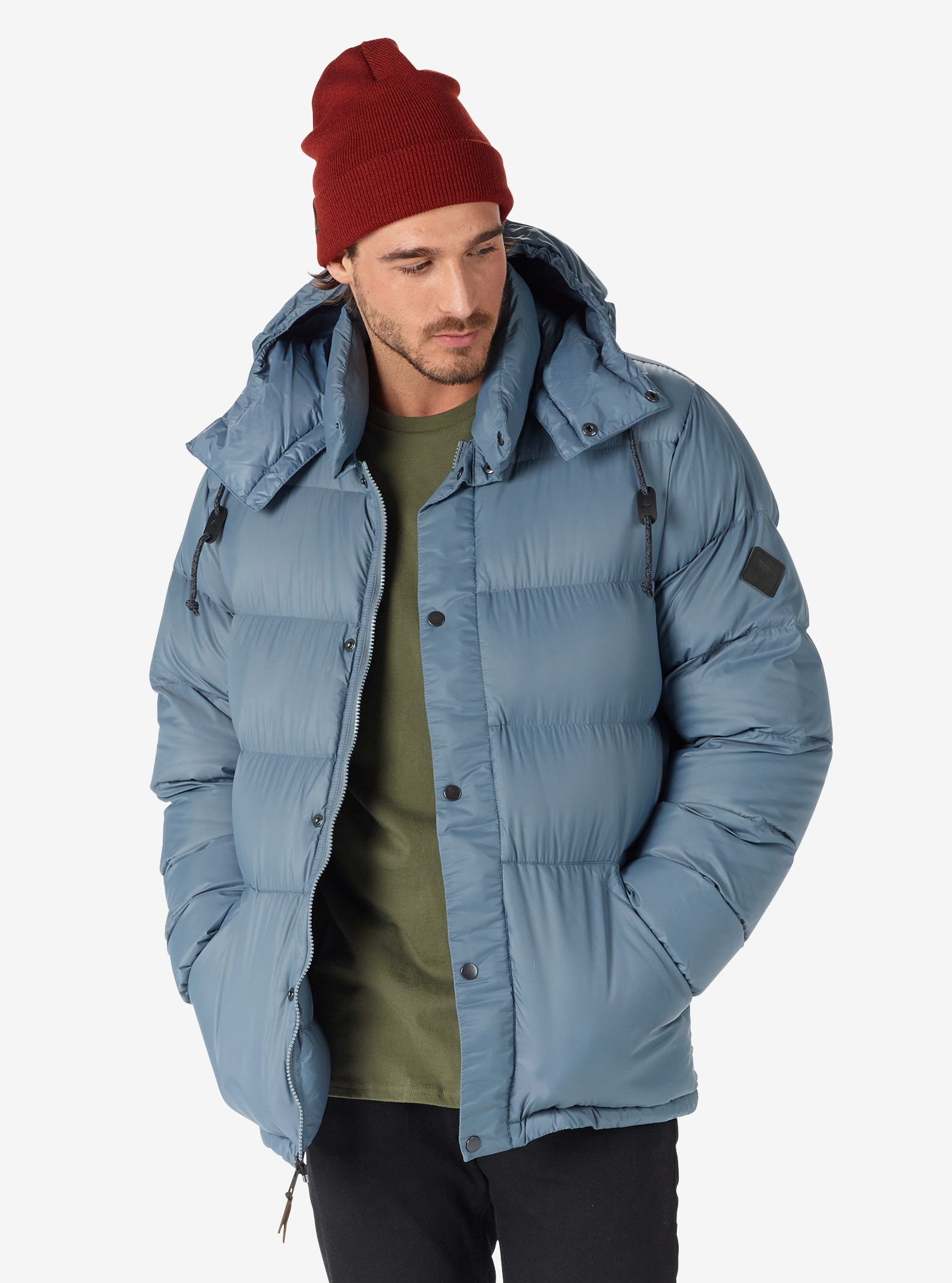 Men's Burton Heritage Down Jacket shown in LA Sky