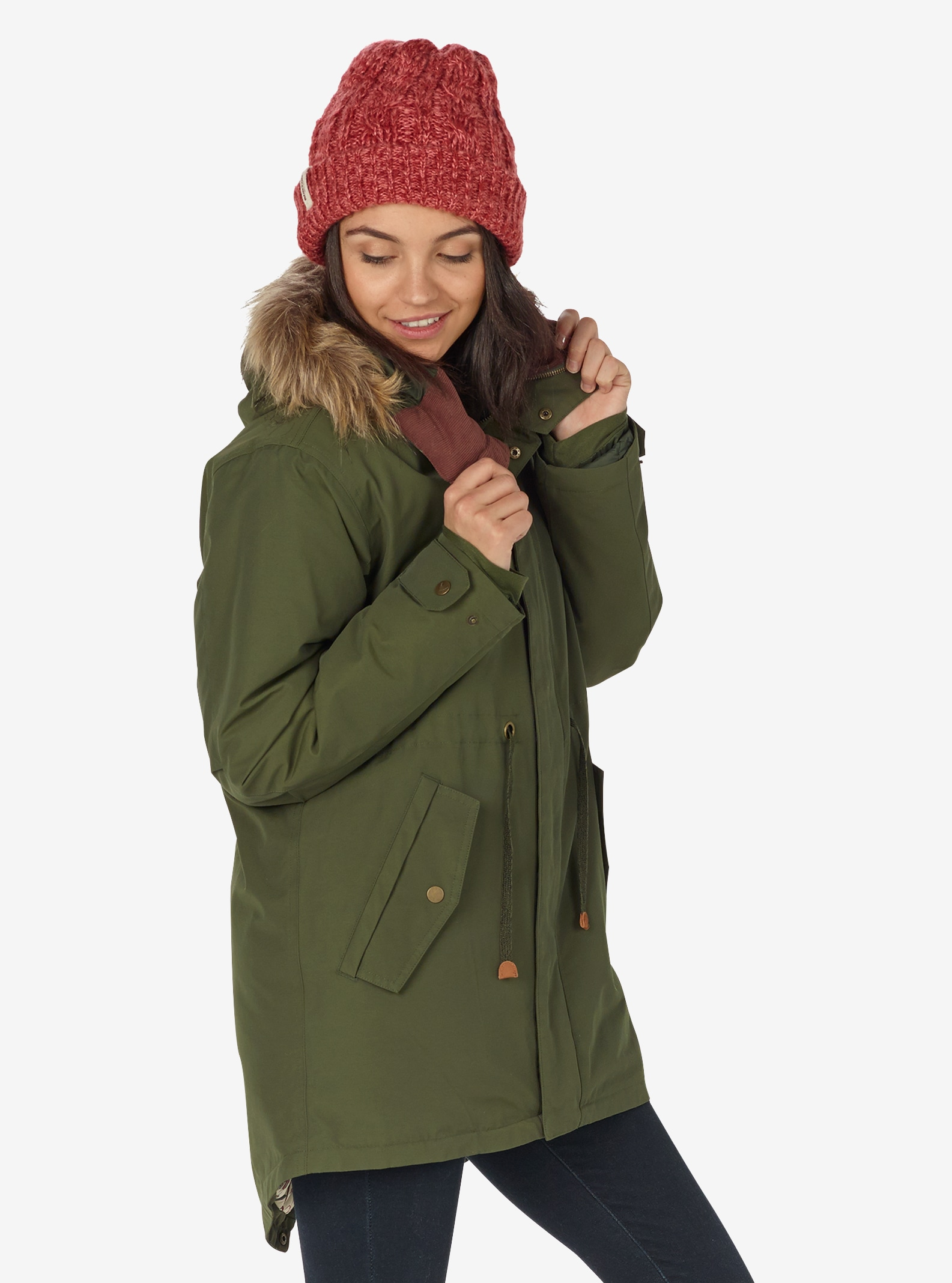 Women's Burton Saxton Parka Jacket shown in Forest Night
