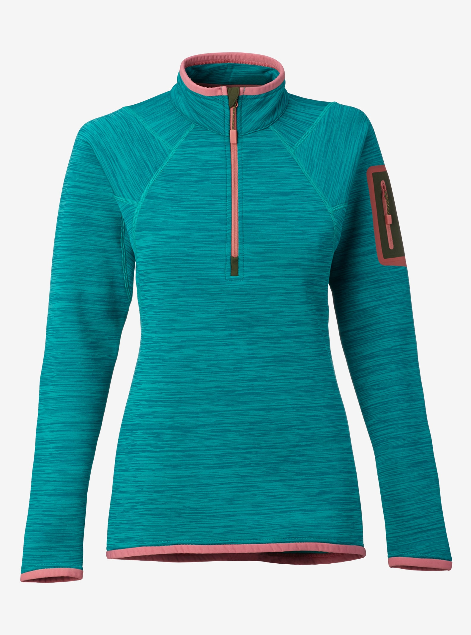 Women's Burton [ak] Turbine Half Zip Fleece shown in Spectra
