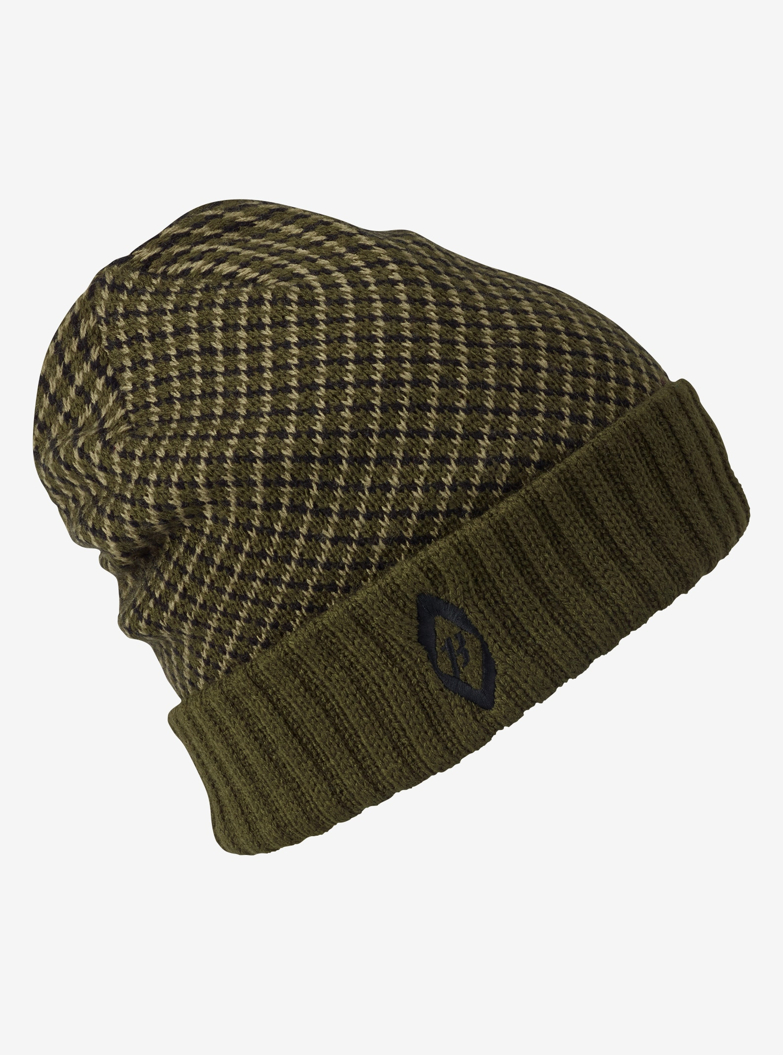 Men's Burton Check Beanie shown in Forest Night