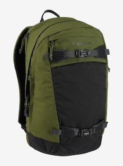 Burton Day Hiker Pro 28L Backpack shown in Rifle Green Ripstop · Rifle  Green Ripstop · Fired Brick Heathered Cordura®