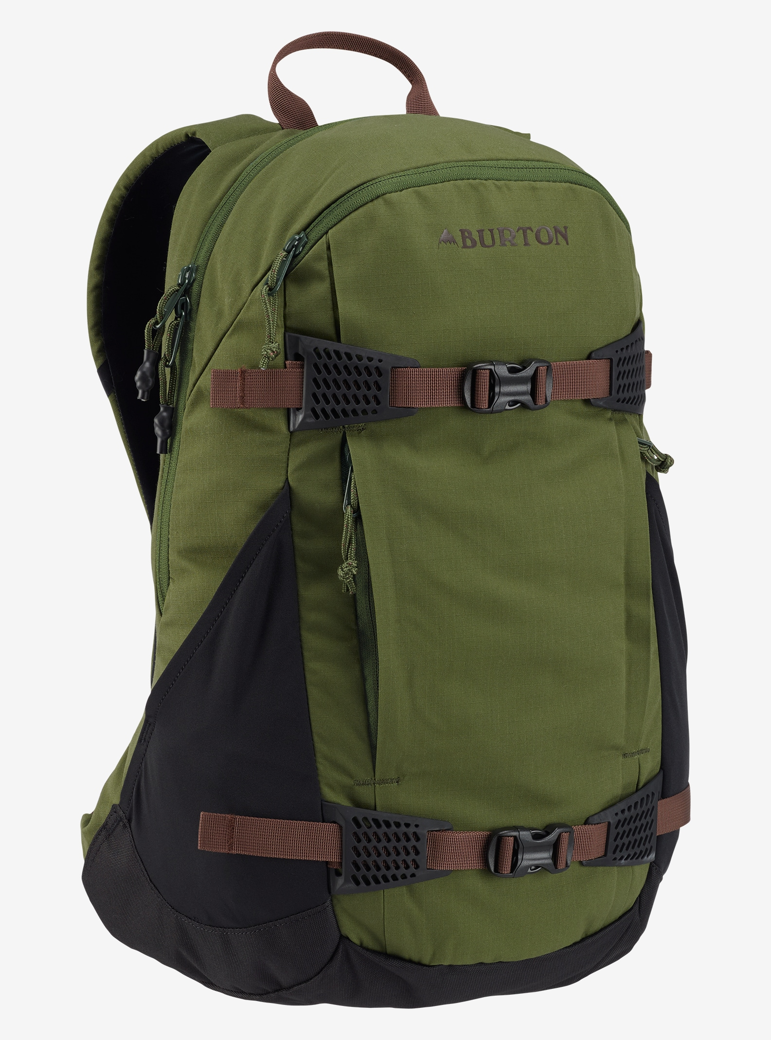 Burton Day Hiker 25L Backpack shown in Rifle Green Ripstop