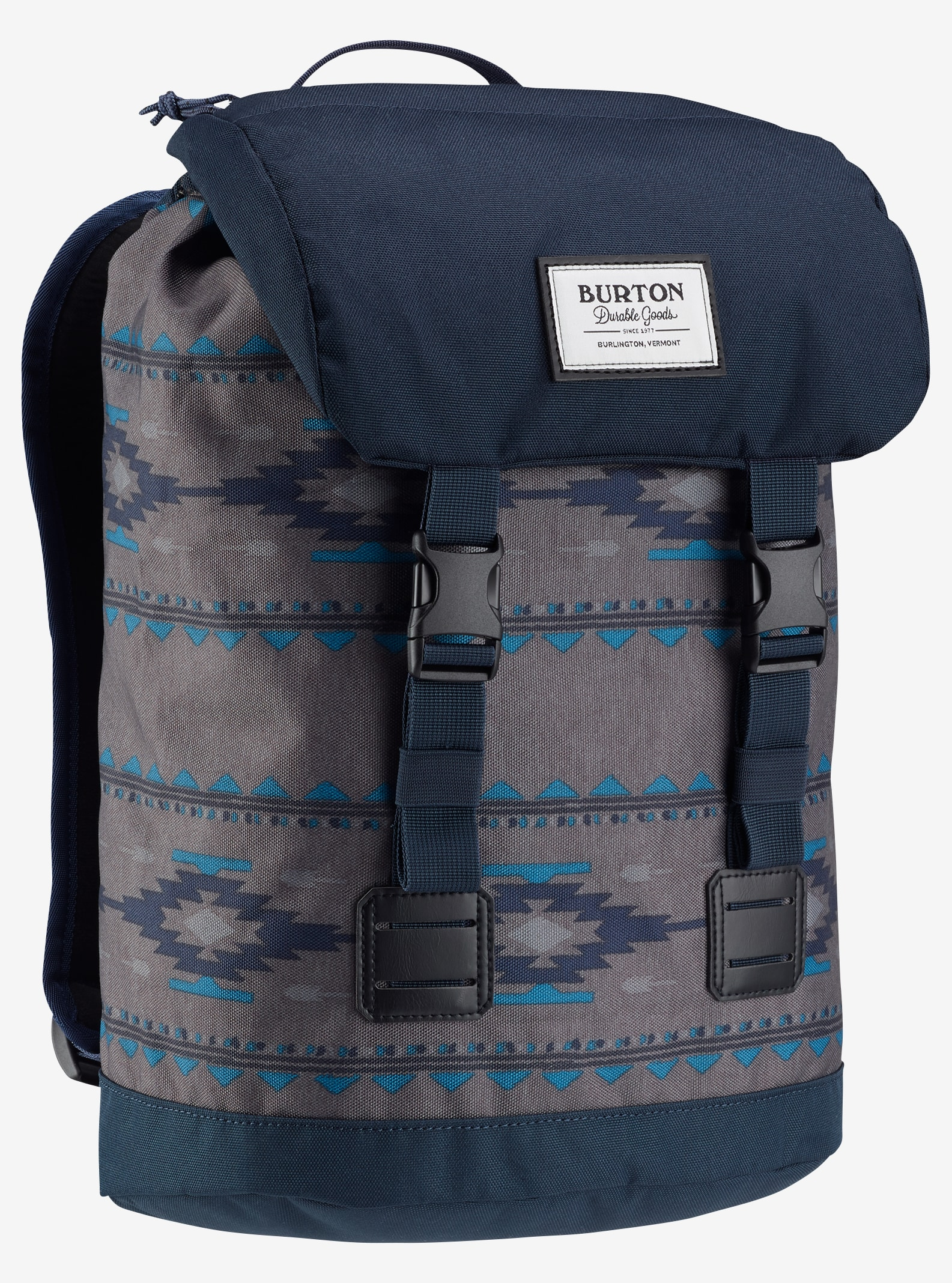 Burton Kids' Tinder Backpack shown in Faded Saddle Stripe Print