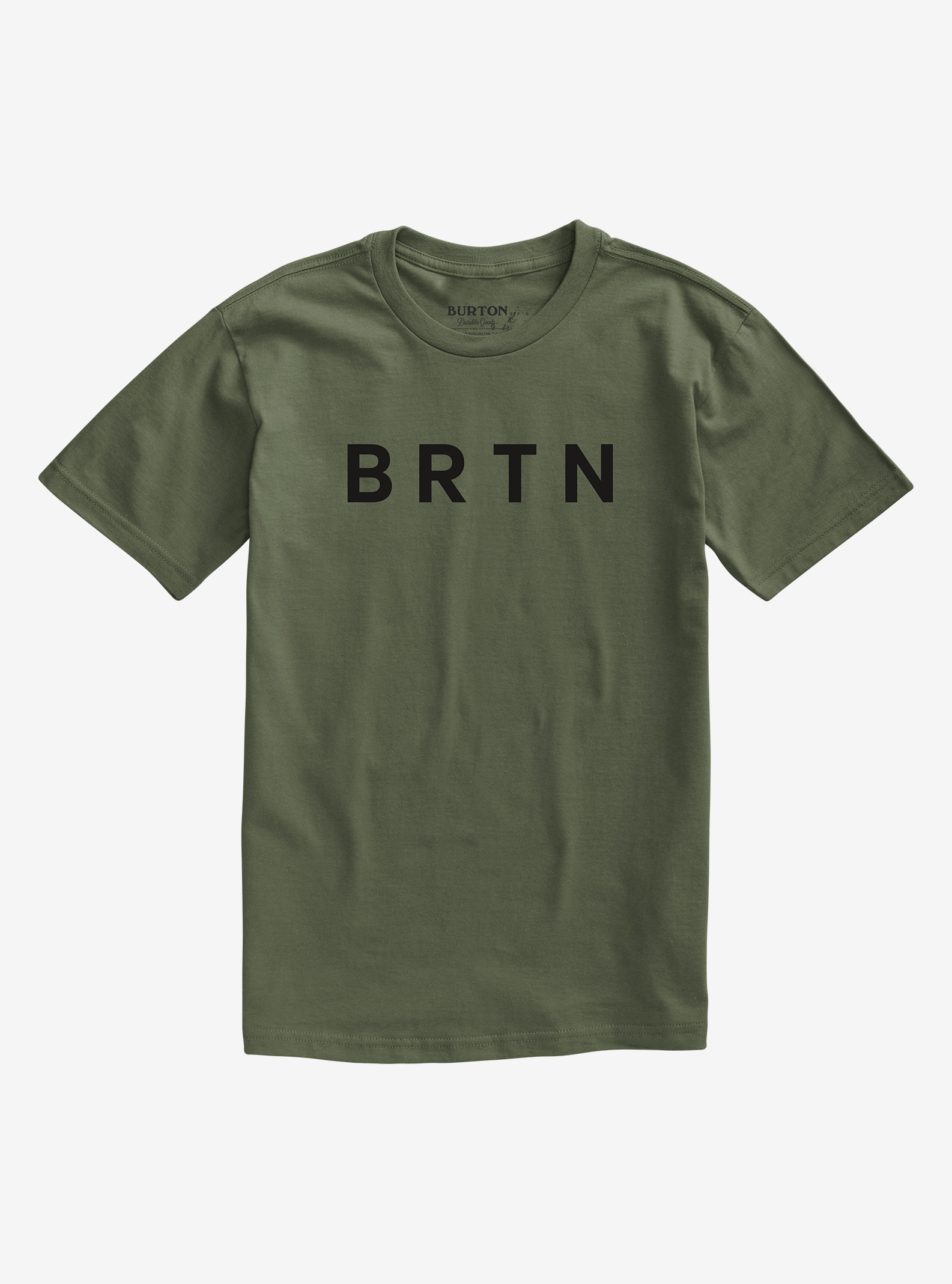 Men's Burton BRTN Short Sleeve T Shirt shown in Dusty Olive
