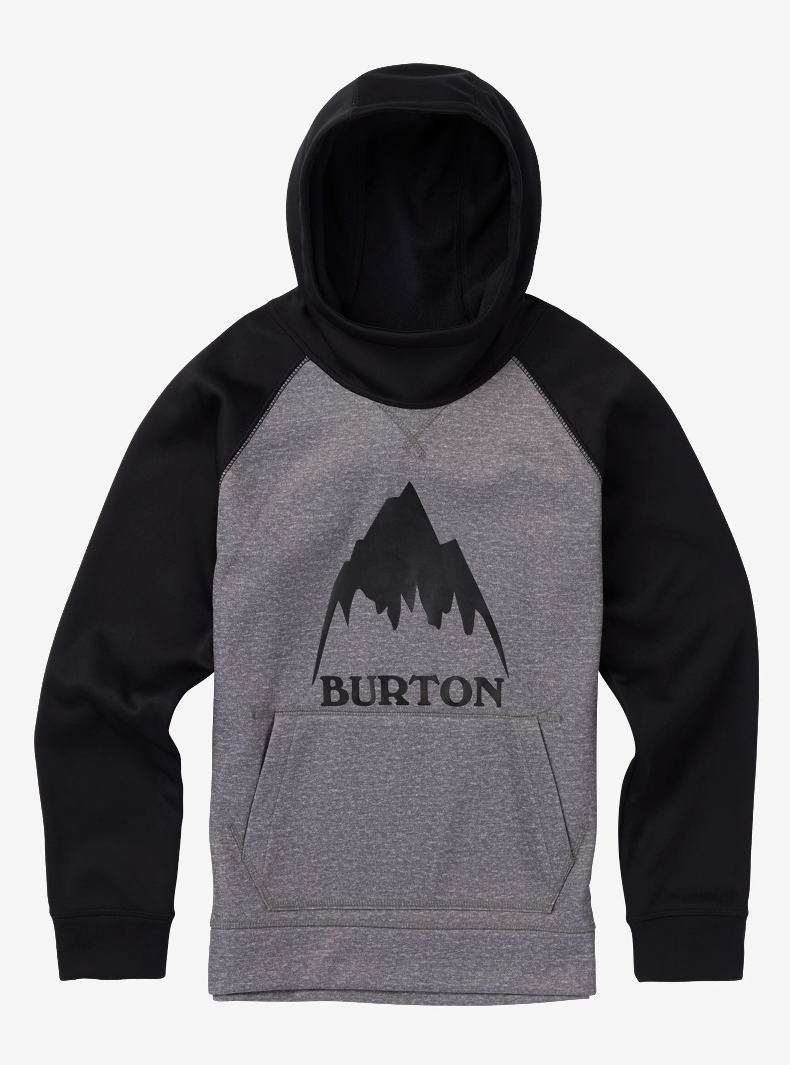 Boys' Burton Crown Bonded Pullover Hoodie shown in Monument Heather