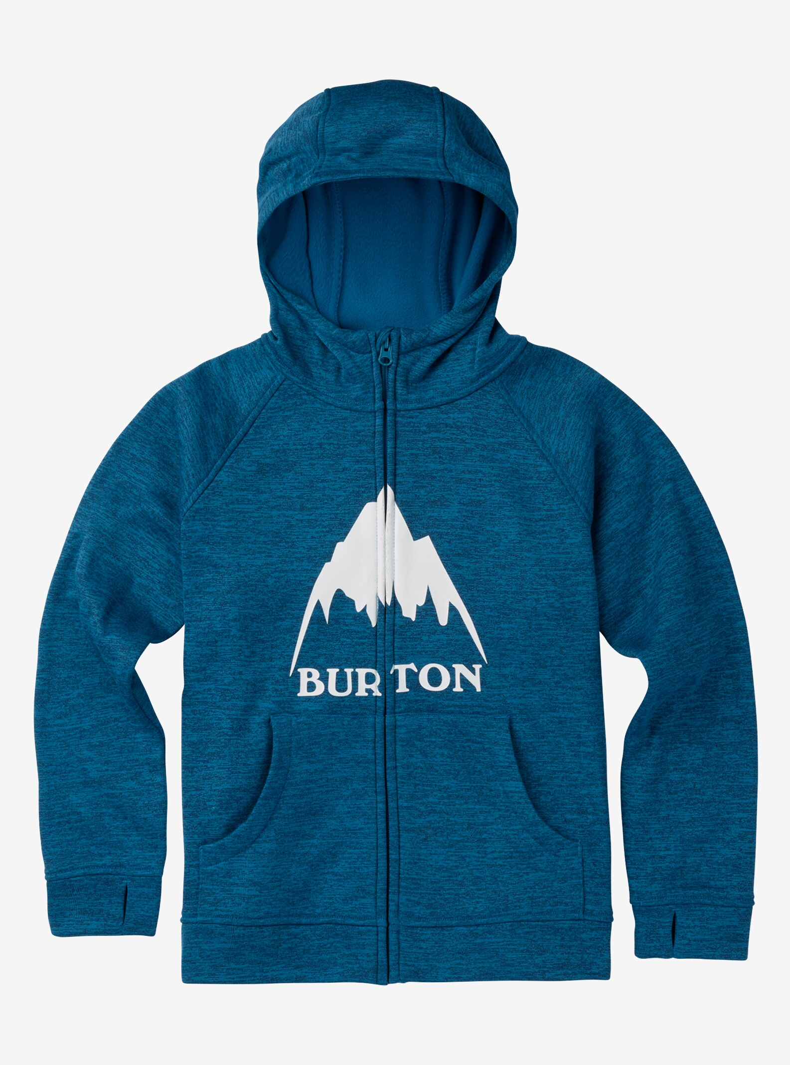 Boys' Burton Oak Full-Zip Hoodie shown in Mountaineer Heather