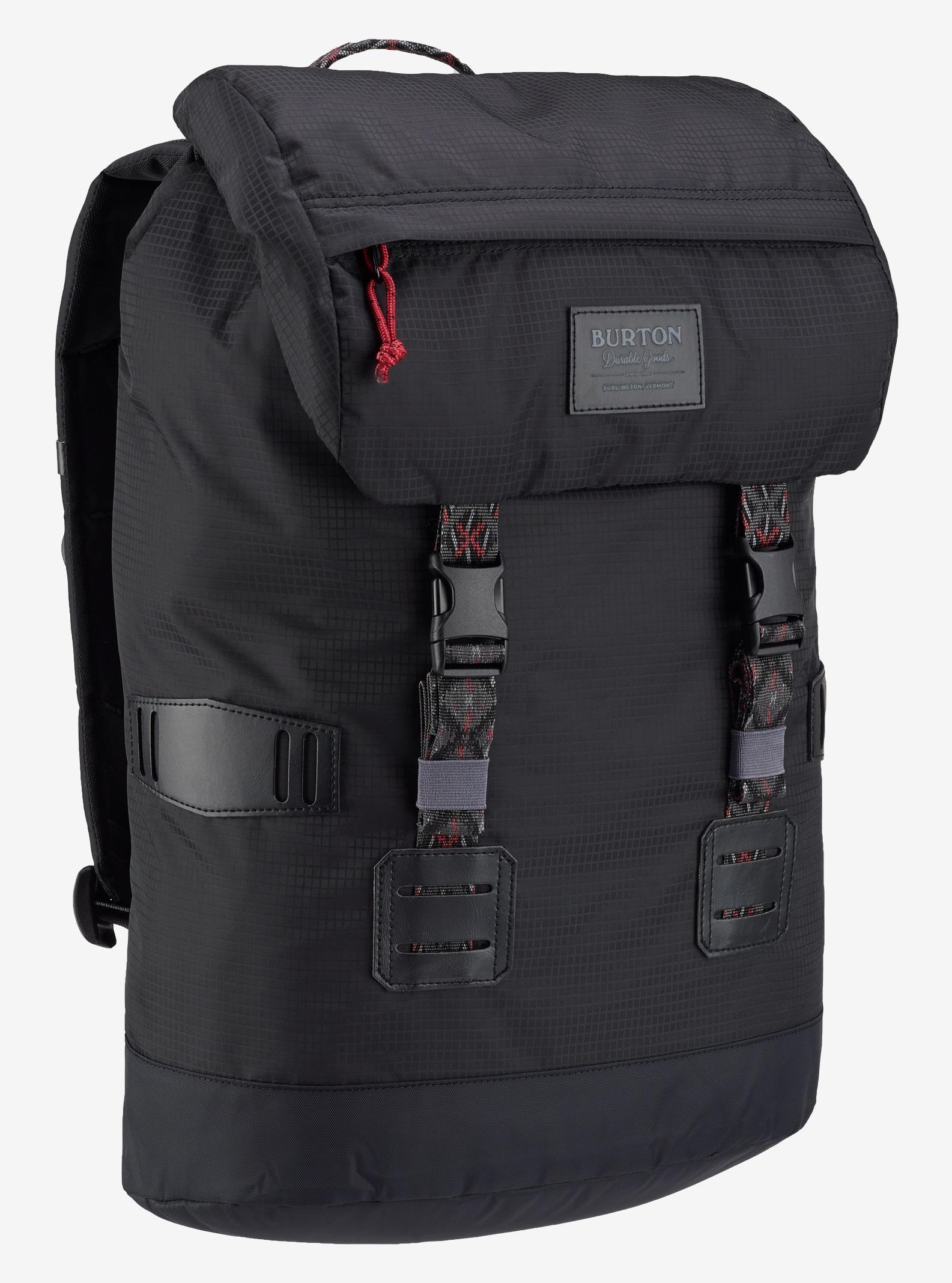 Burton Tinder Backpack shown in True Black Mini Rip