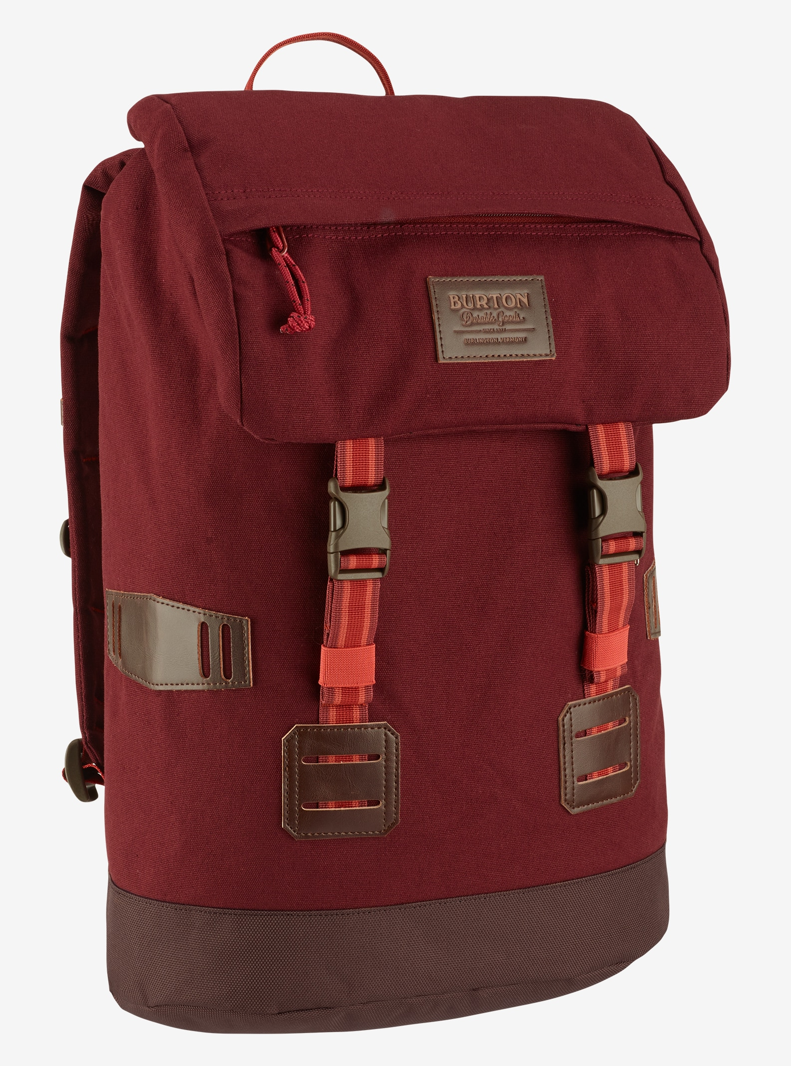 Burton Tinder Backpack shown in Fired Brick Triple Rip Cordura®
