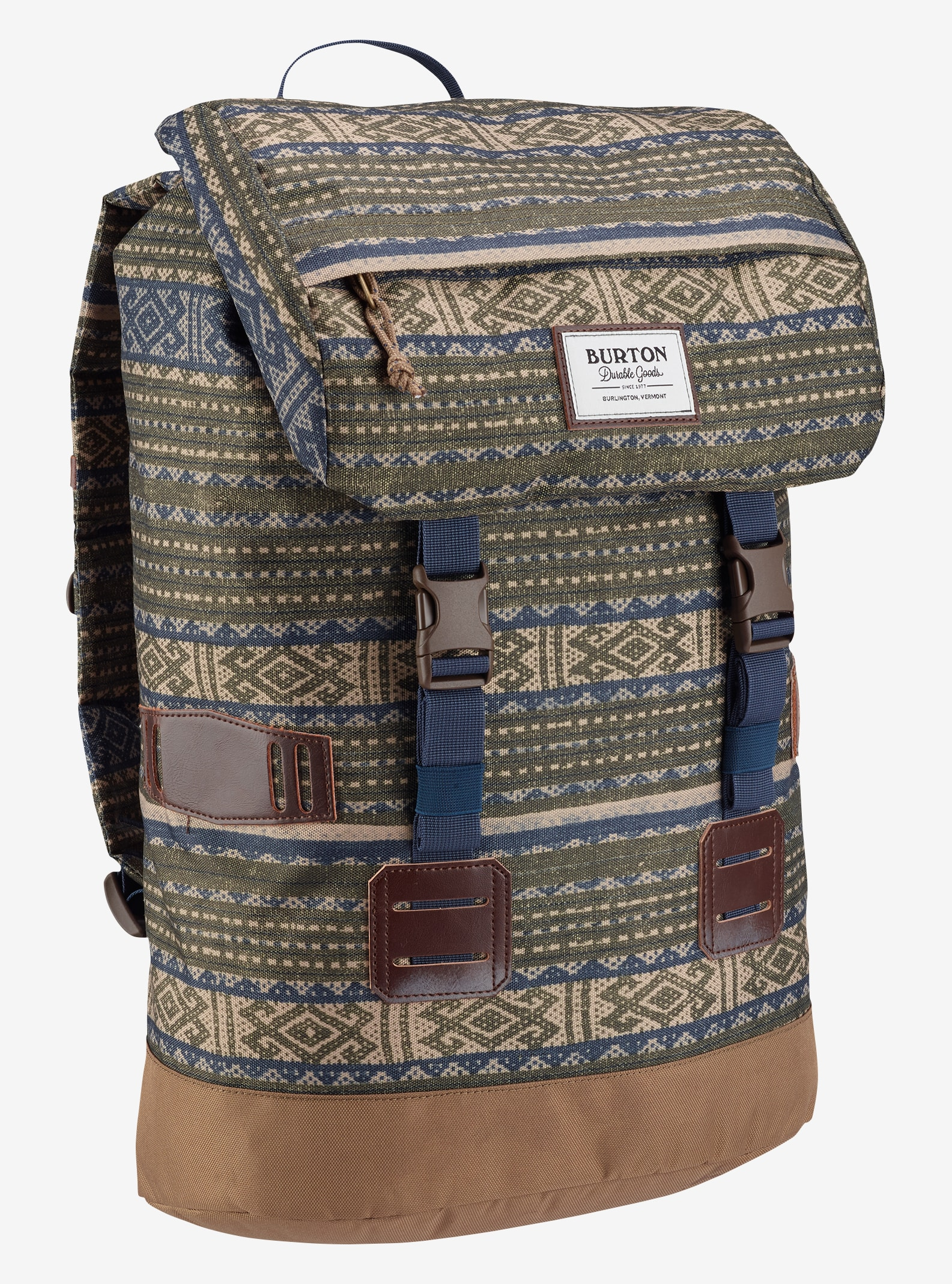 Burton Tinder Backpack shown in Tanimbar Print
