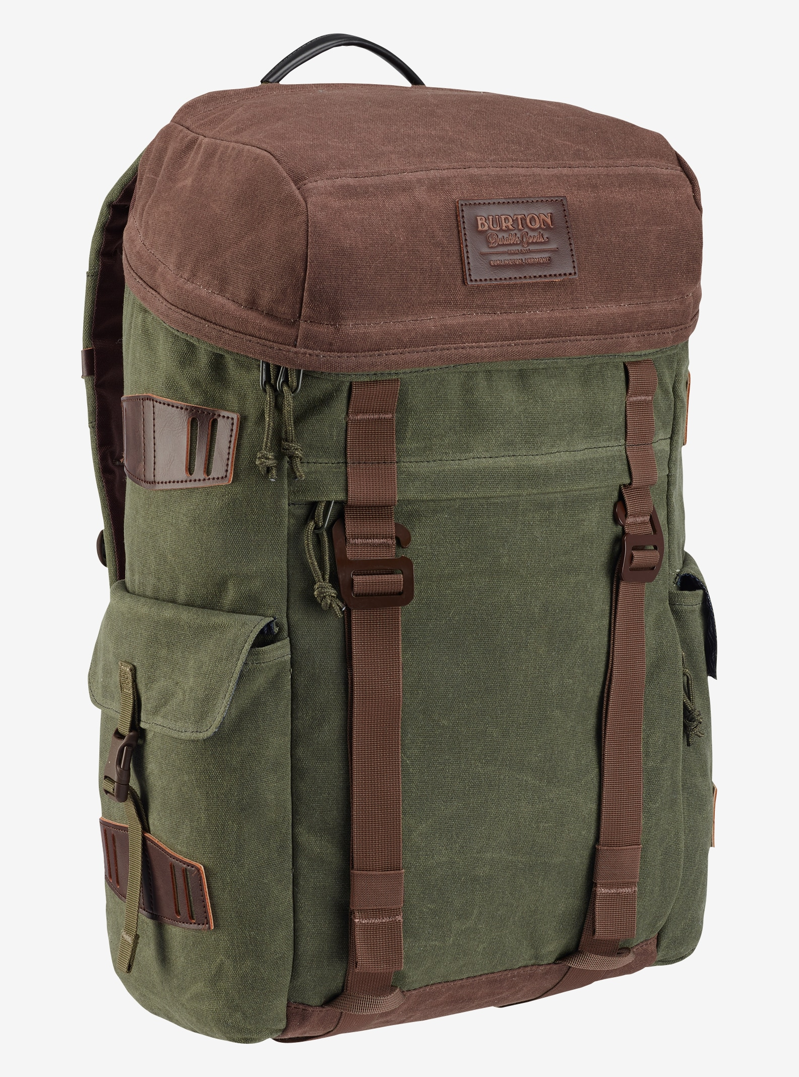Burton Annex Backpack shown in Forest Night Waxed Canvas