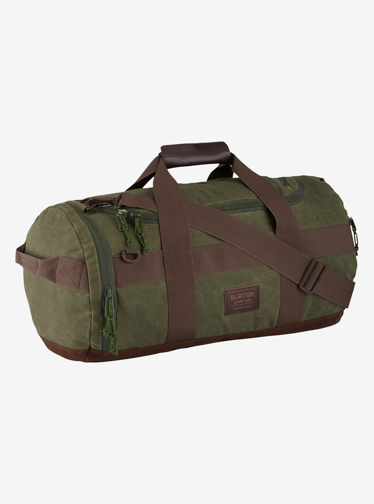 Burton Backhill Duffel Bag Small 40L shown in Forest Night Waxed Canvas