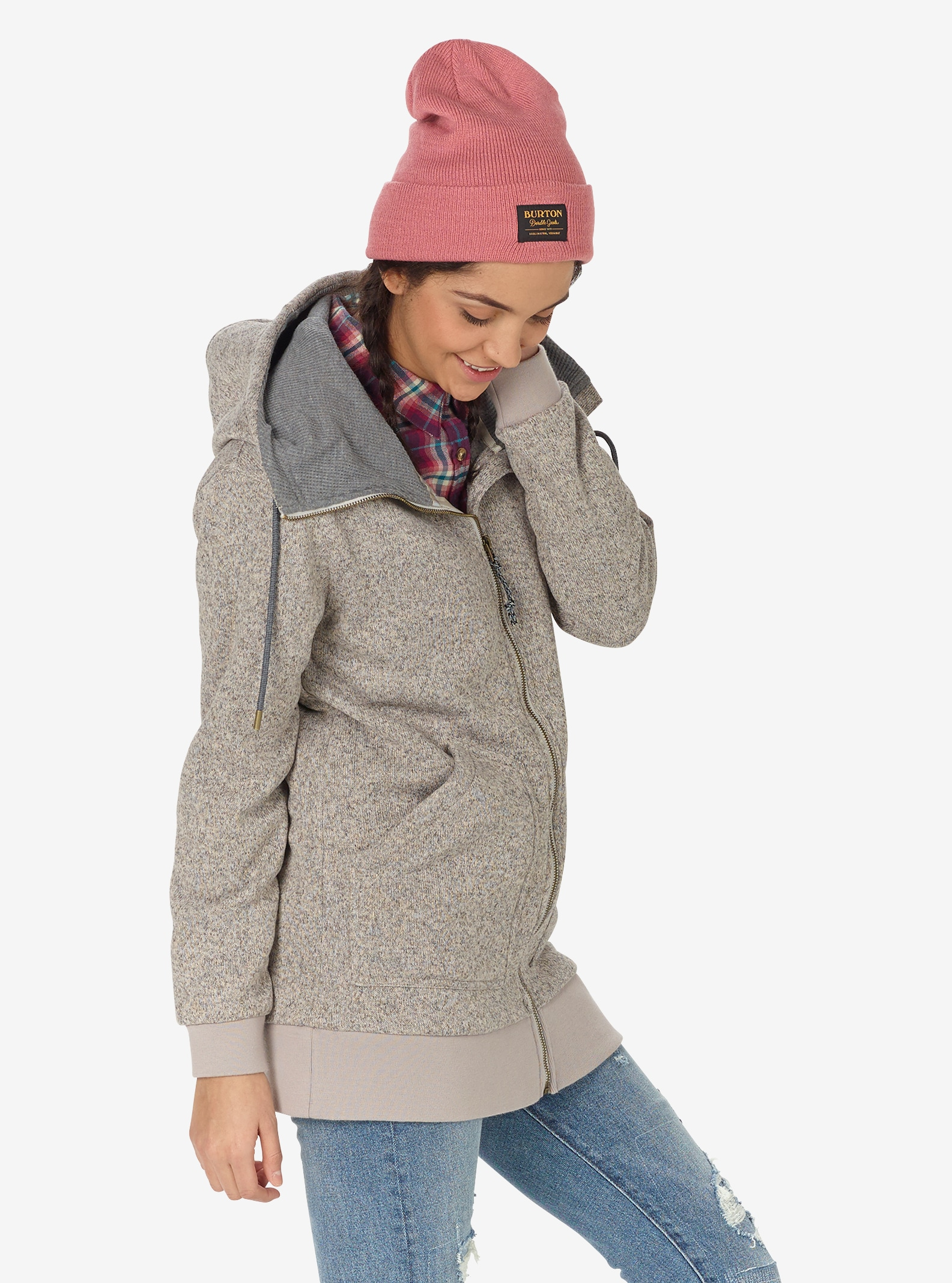 Women's Burton Minxy Fleece shown in Dove Heather