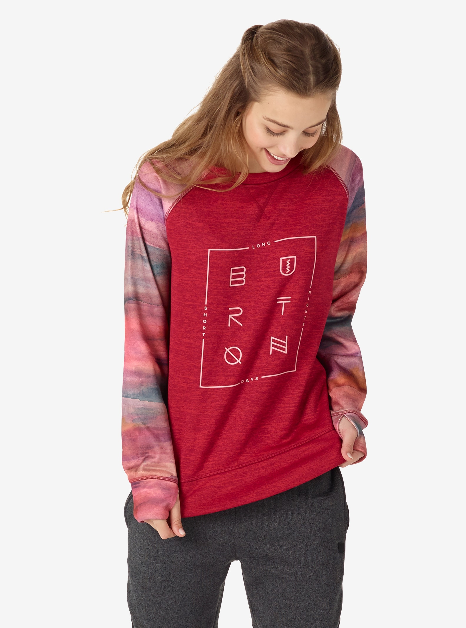 Women's Burton Quartz Crew shown in Anemone Heather
