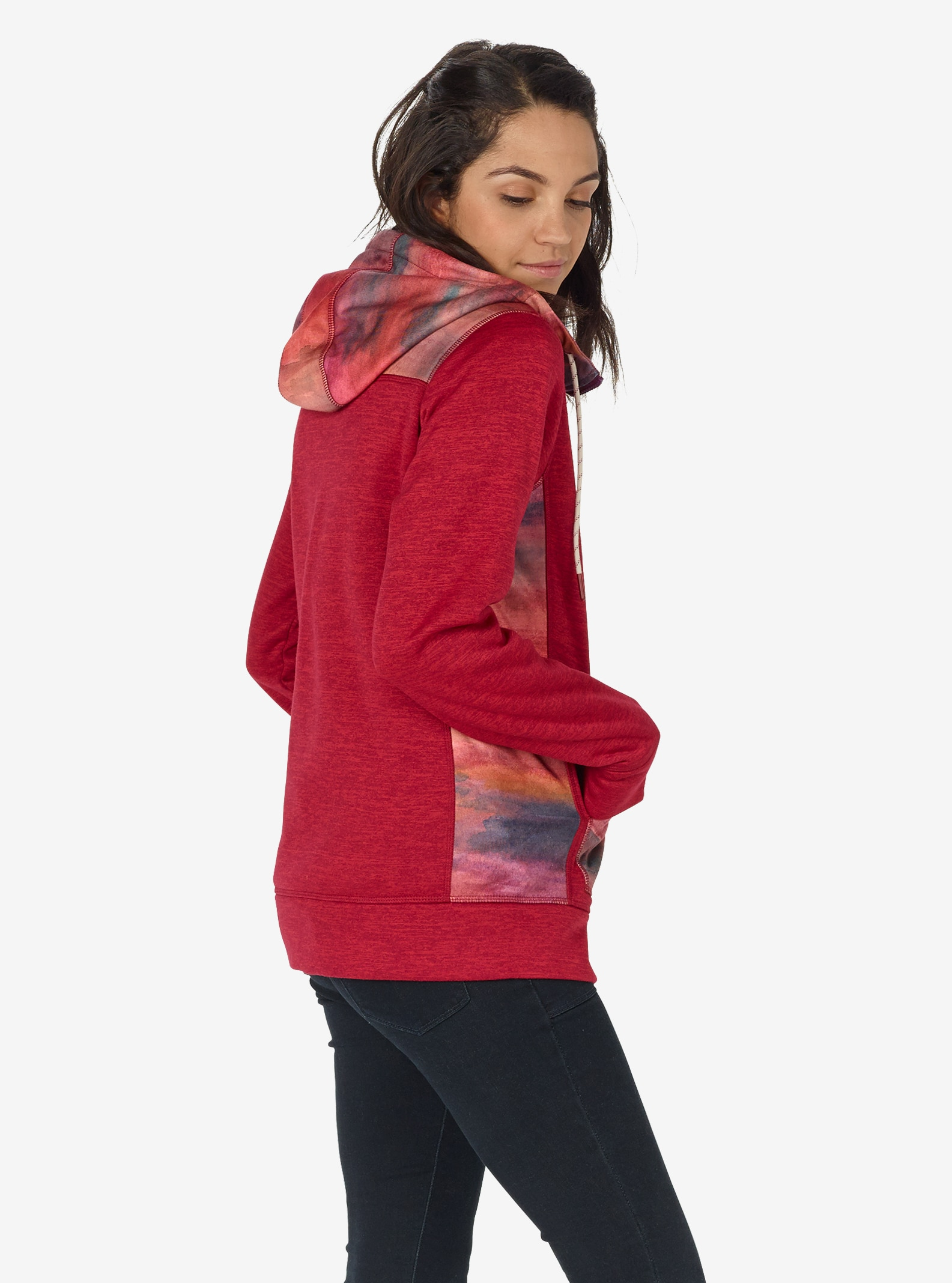 Women's Burton Quartz Full-Zip shown in Anemone Heather