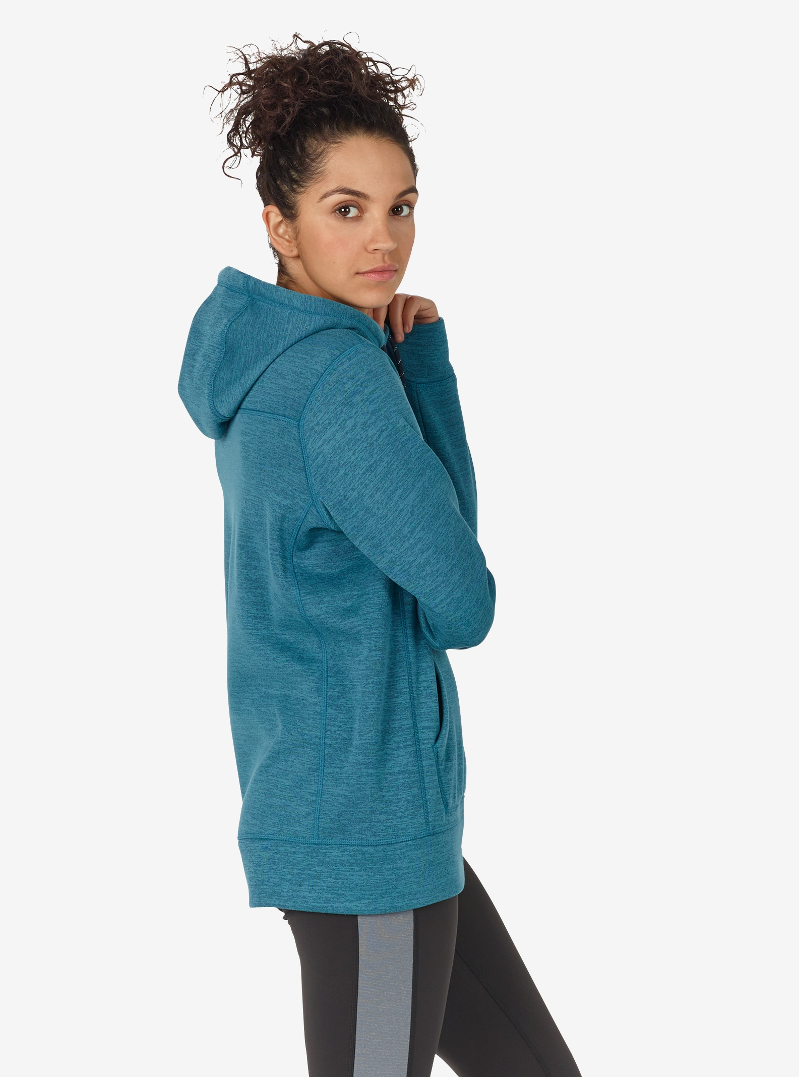 Women's Burton Quartz Pullover shown in Jaded Heather