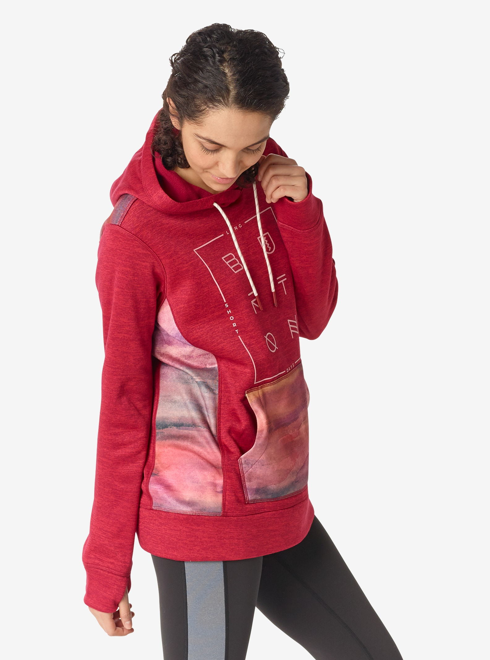 Women's Burton Quartz Pullover shown in Anemone Heather