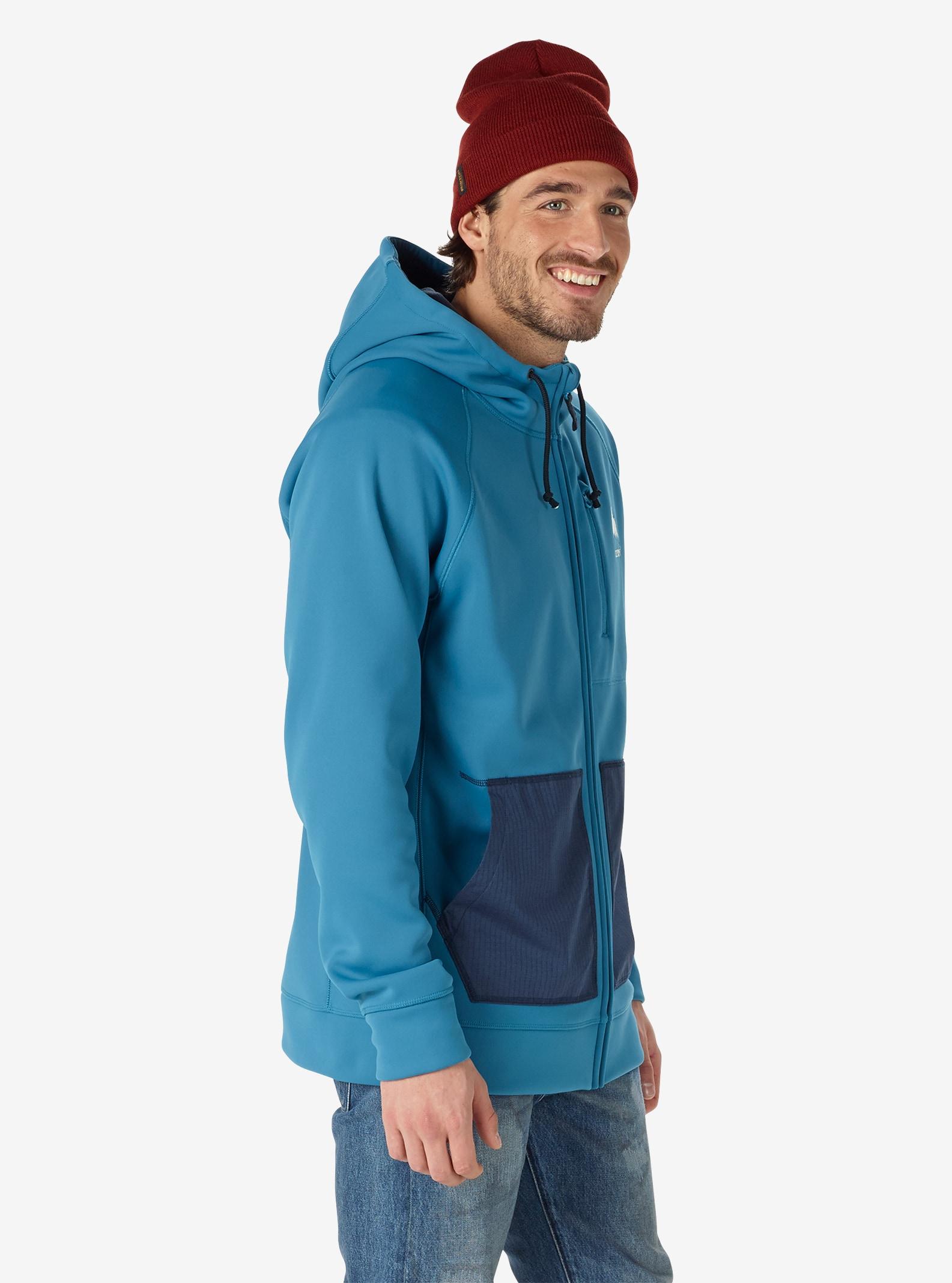 Men's Burton Bonded Full-Zip Hoodie shown in Mountaineer
