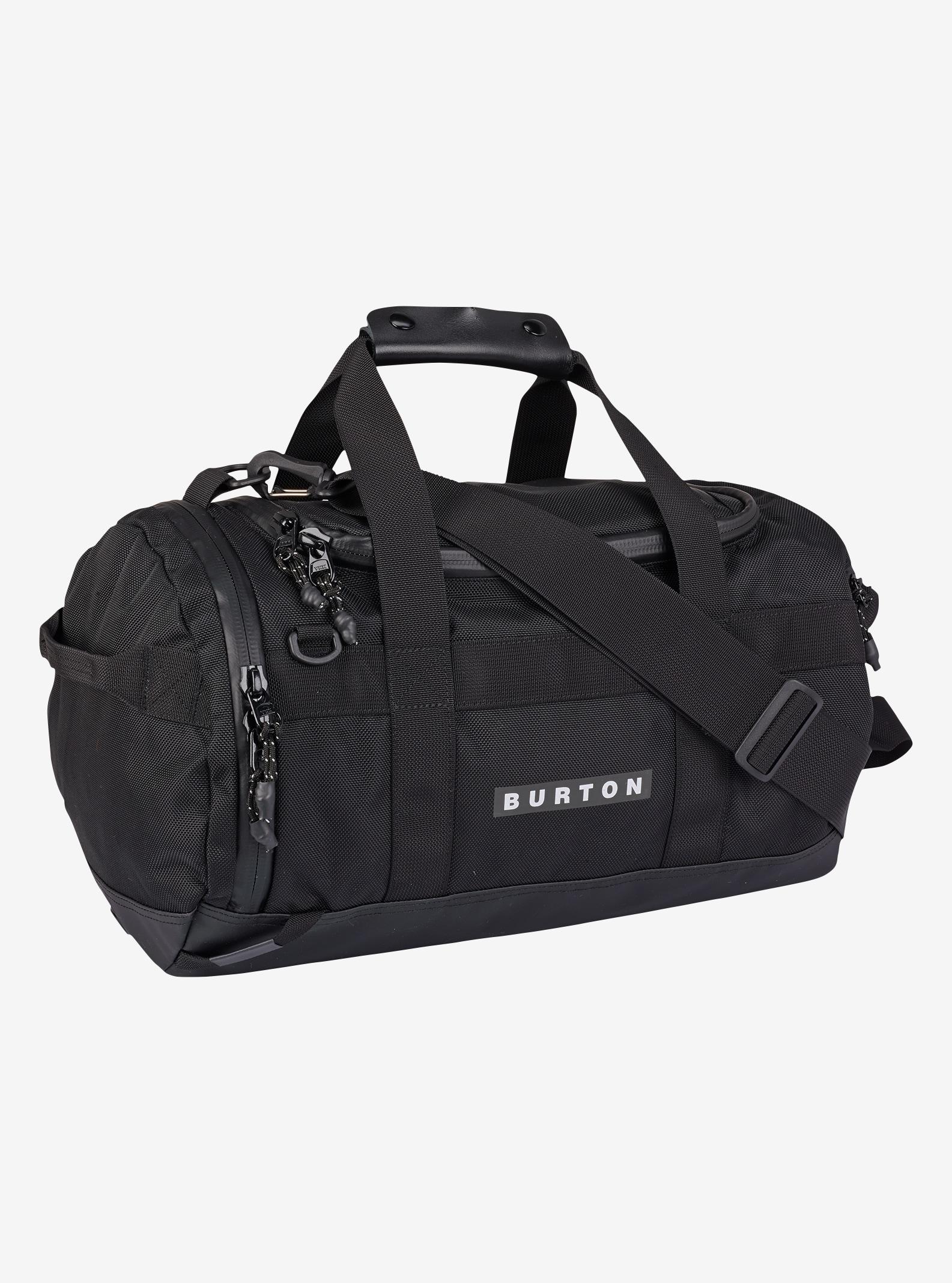 Burton Backhill Duffel Bag X-Small 25L shown in True Black Ballistic