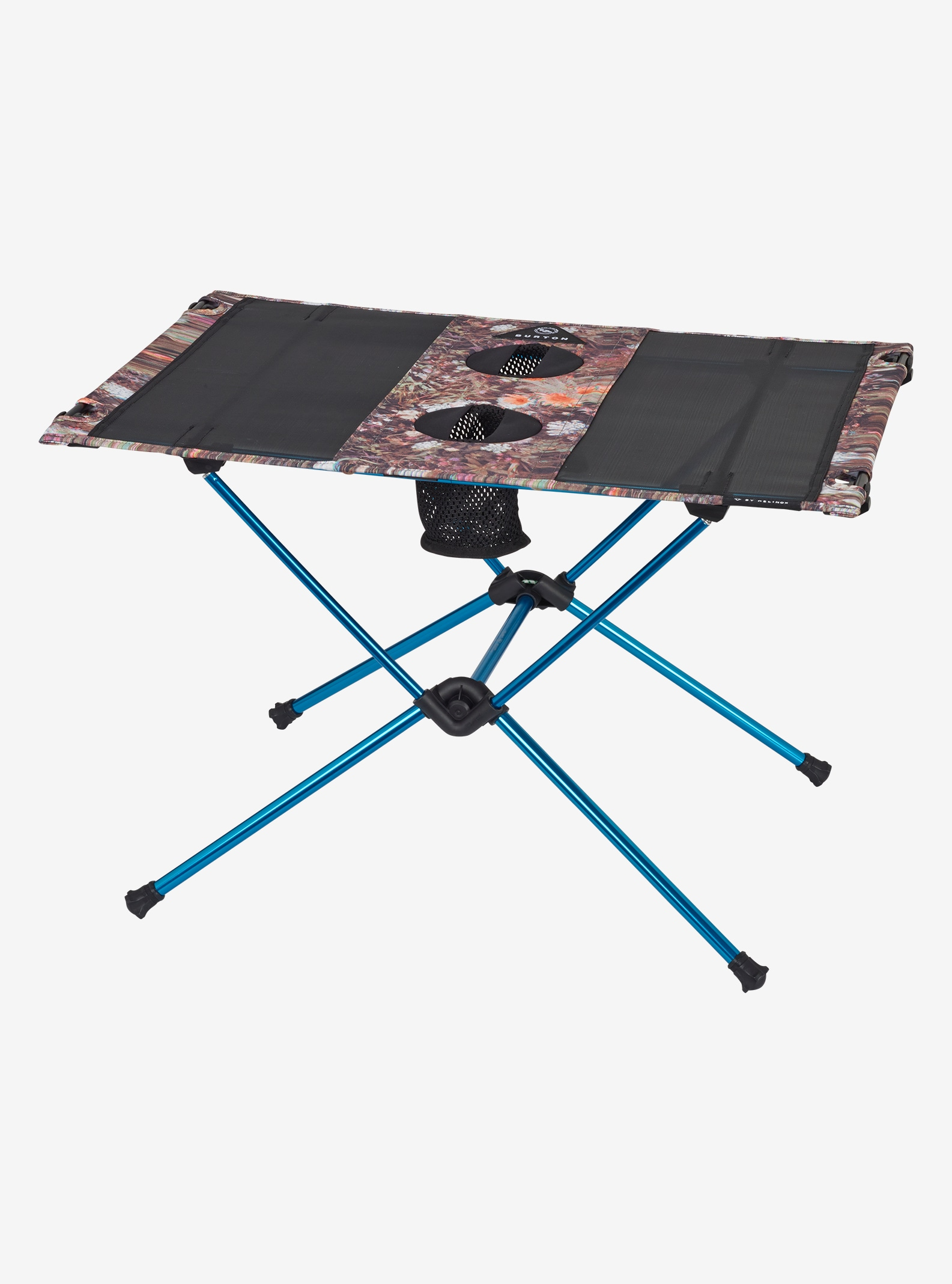 Big Agnes x Helinox x Burton Table One shown in Day Tripper Print