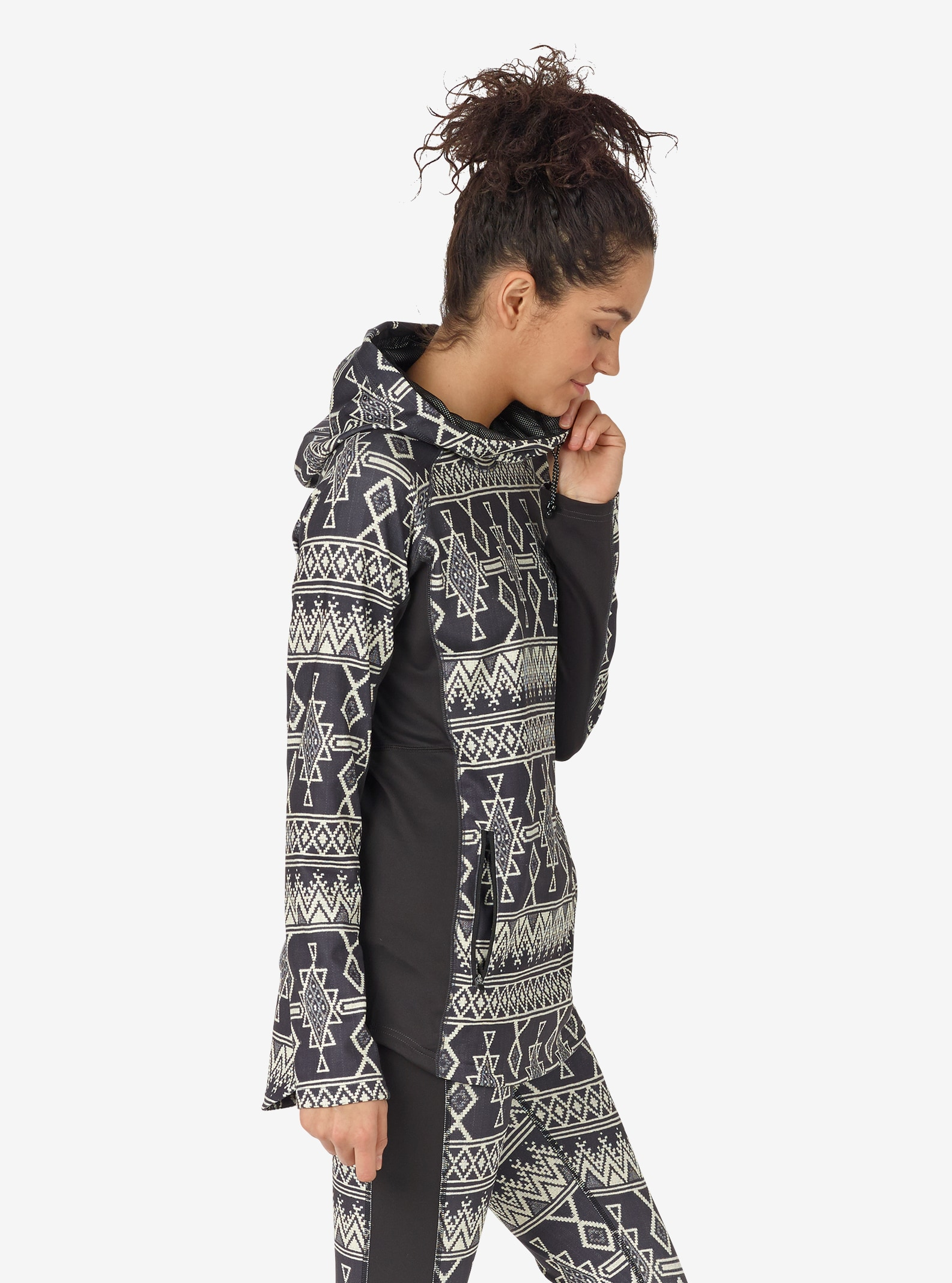 Women's Burton Crystal Pullover Hoodie shown in True Black Mojave