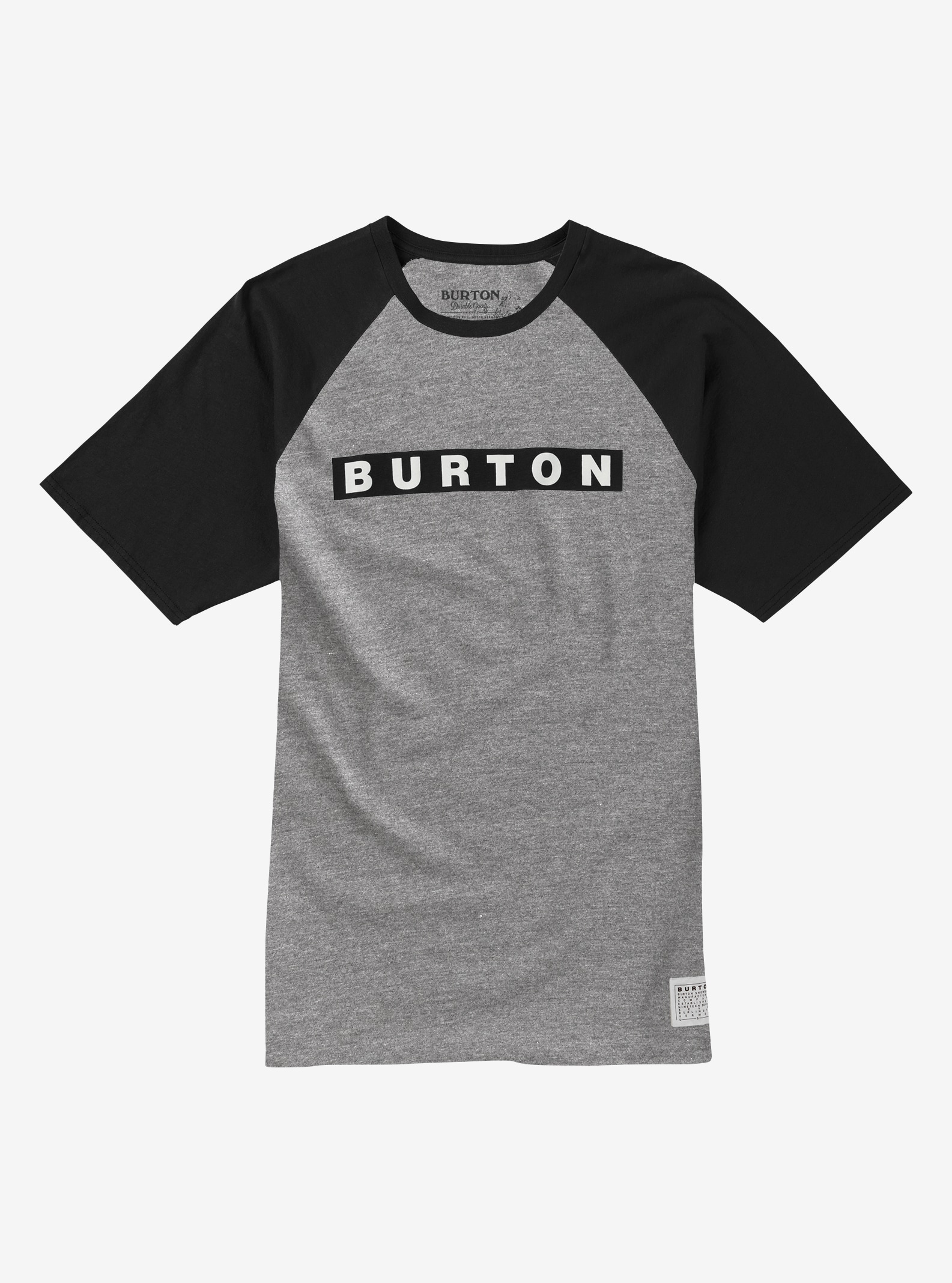 Men's Burton Vault Slim Fit Short Sleeve T Shirt shown in Gray Heather