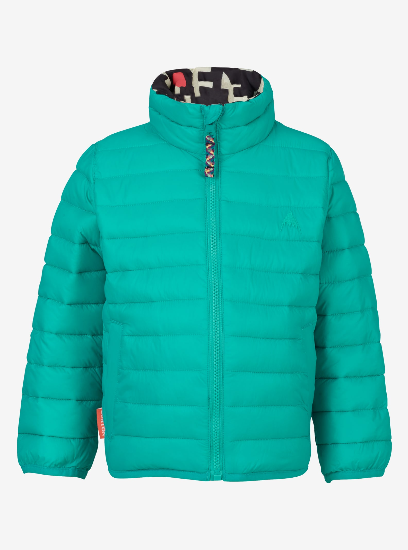 Kids' Burton Minishred Flex Puffy Jacket shown in Everglade / Young Folks