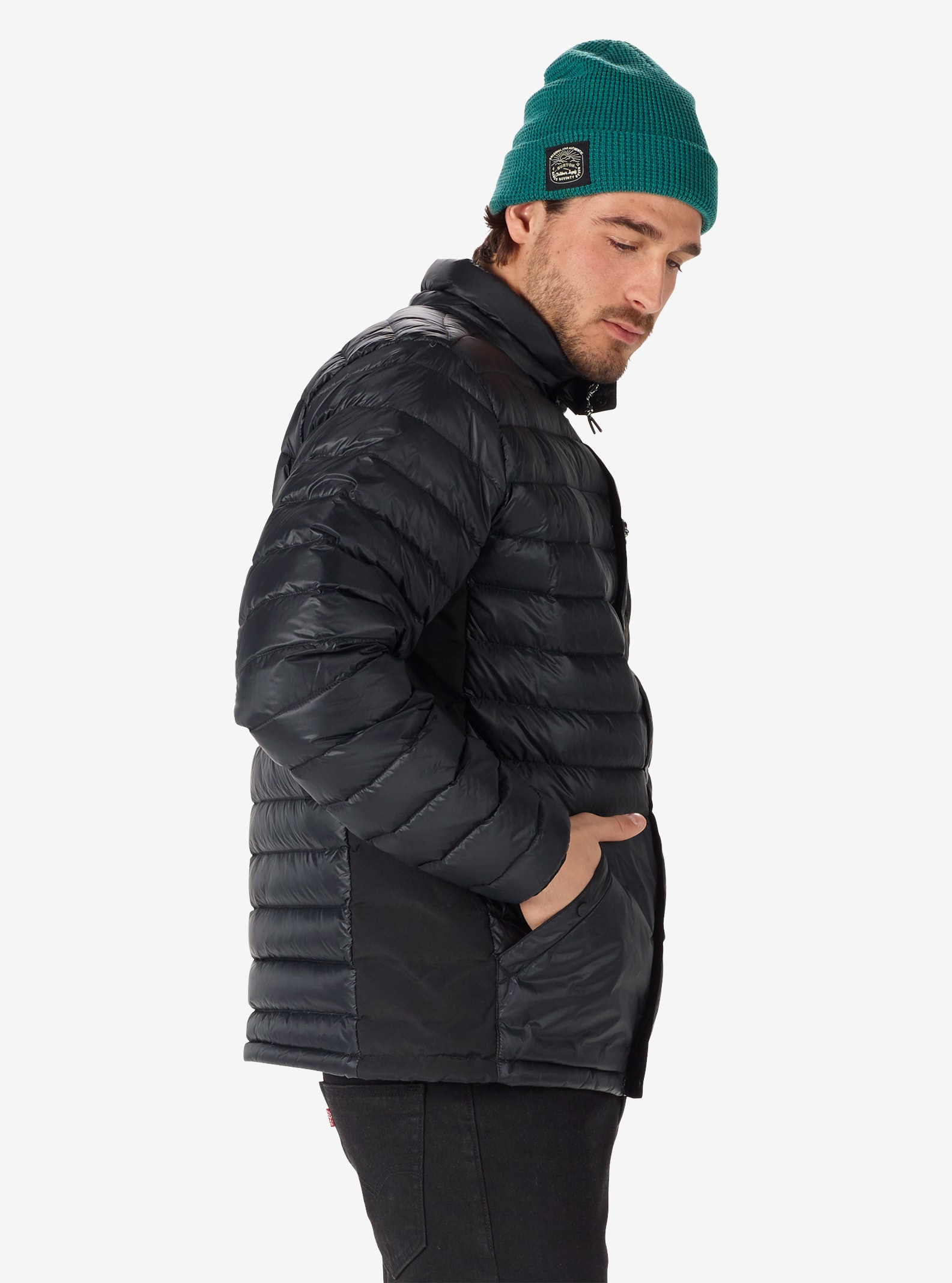 Men's Burton Evergreen Down Insulator shown in True Black