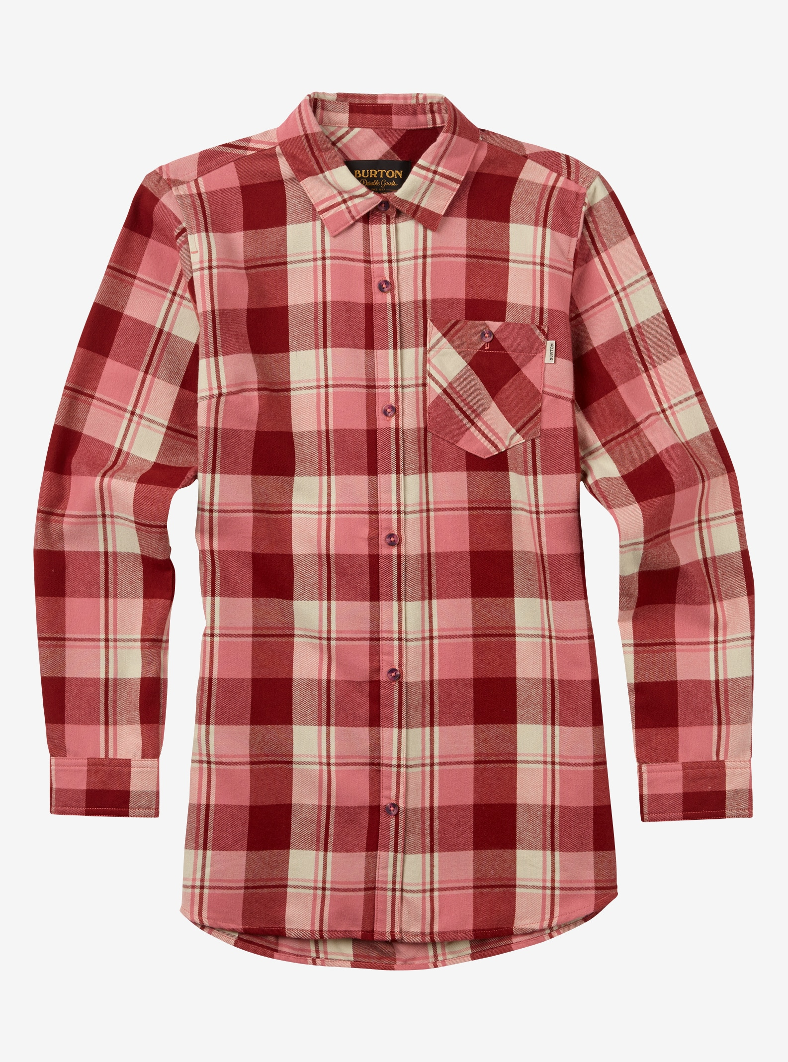 Women's Burton Grace Tech Flannel shown in Dusty Rose 77 Plaid