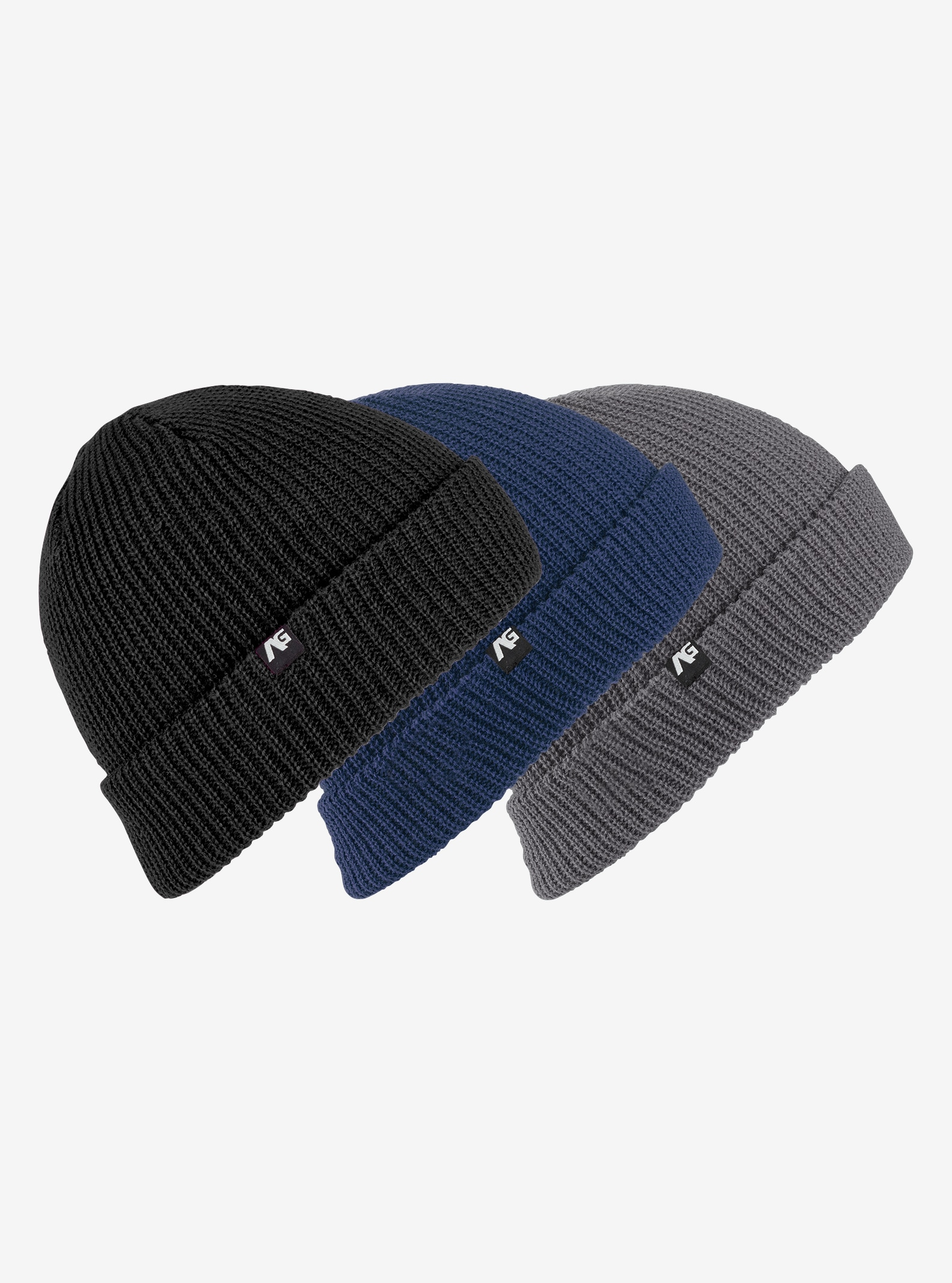 Men's Analog Beanie 3-Pack shown in True Black / Eclipse / Heathers